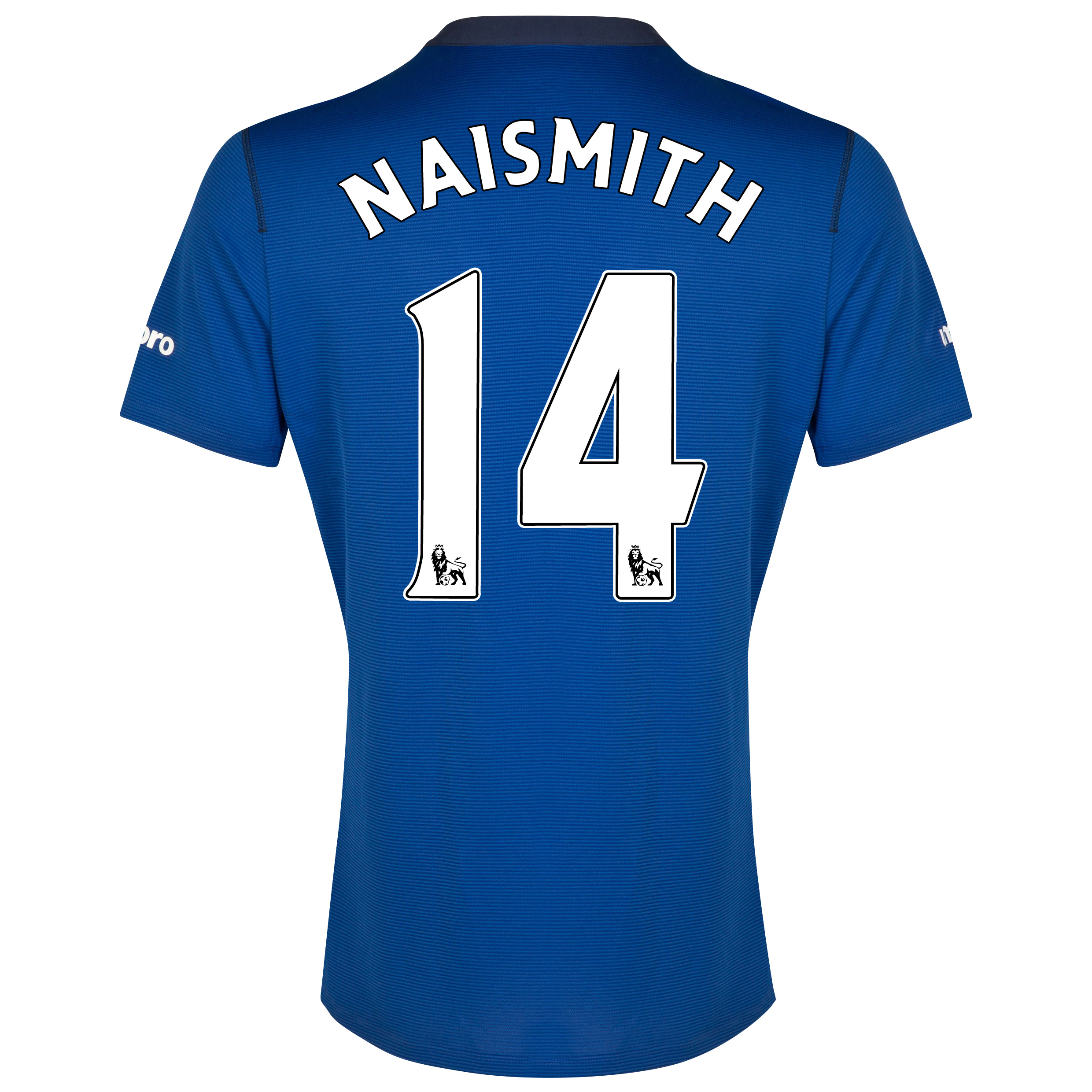 Everton SS Home Shirt 2014/15 - Junior with Naismith 14 printing