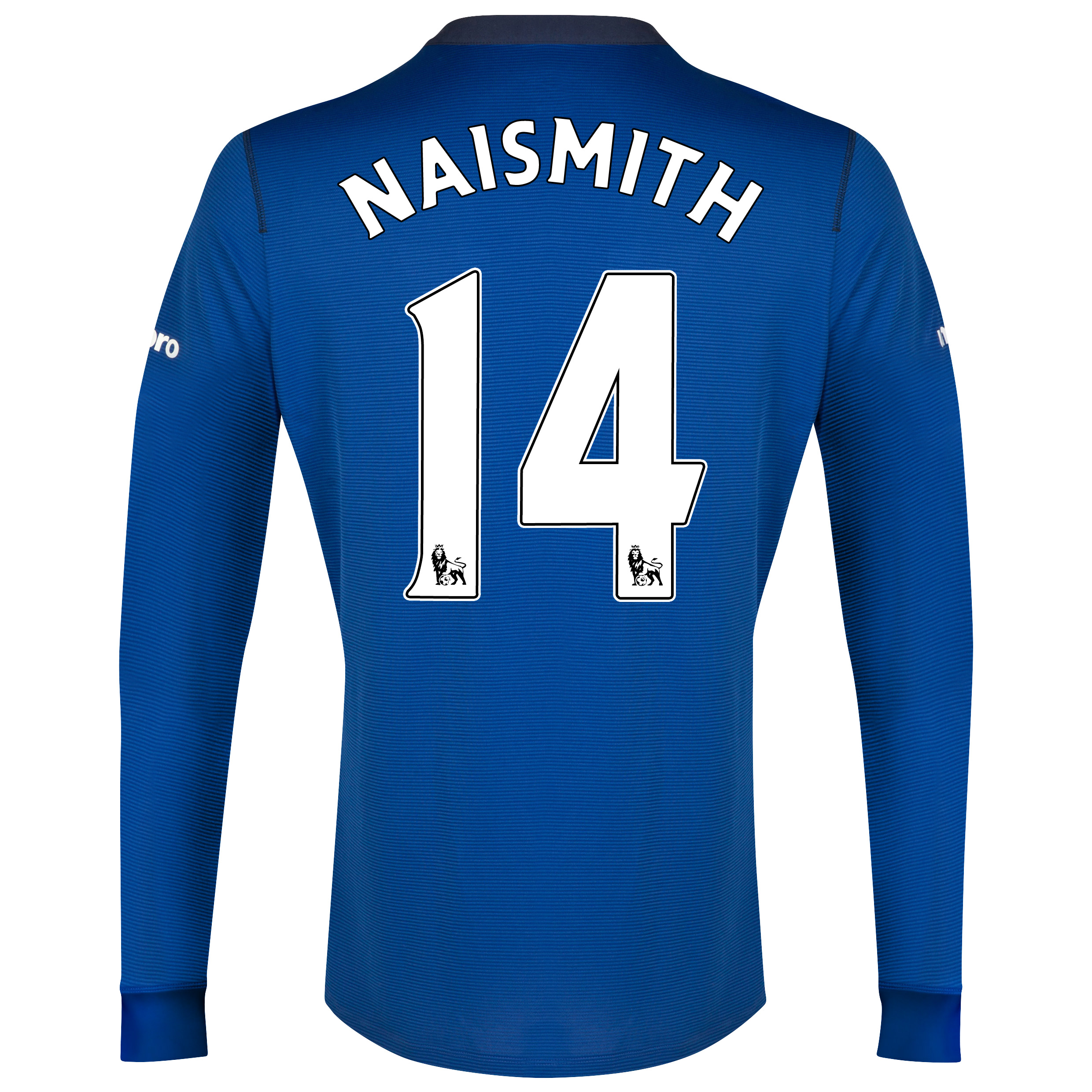 Everton LS Home Shirt 2014/15 - Junior with Naismith 14 printing