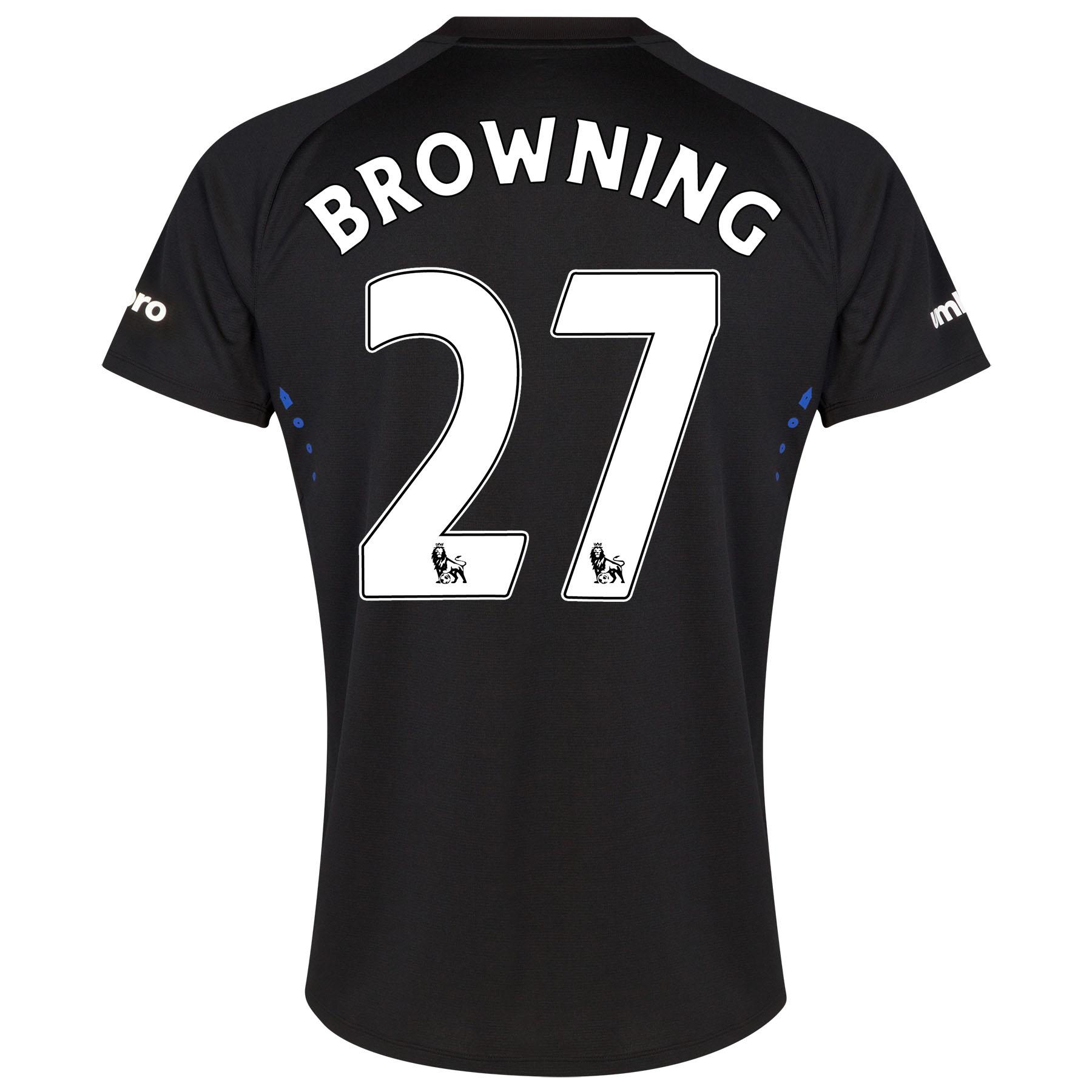 Everton SS Away Shirt 2014/15 with Browning 36 printing