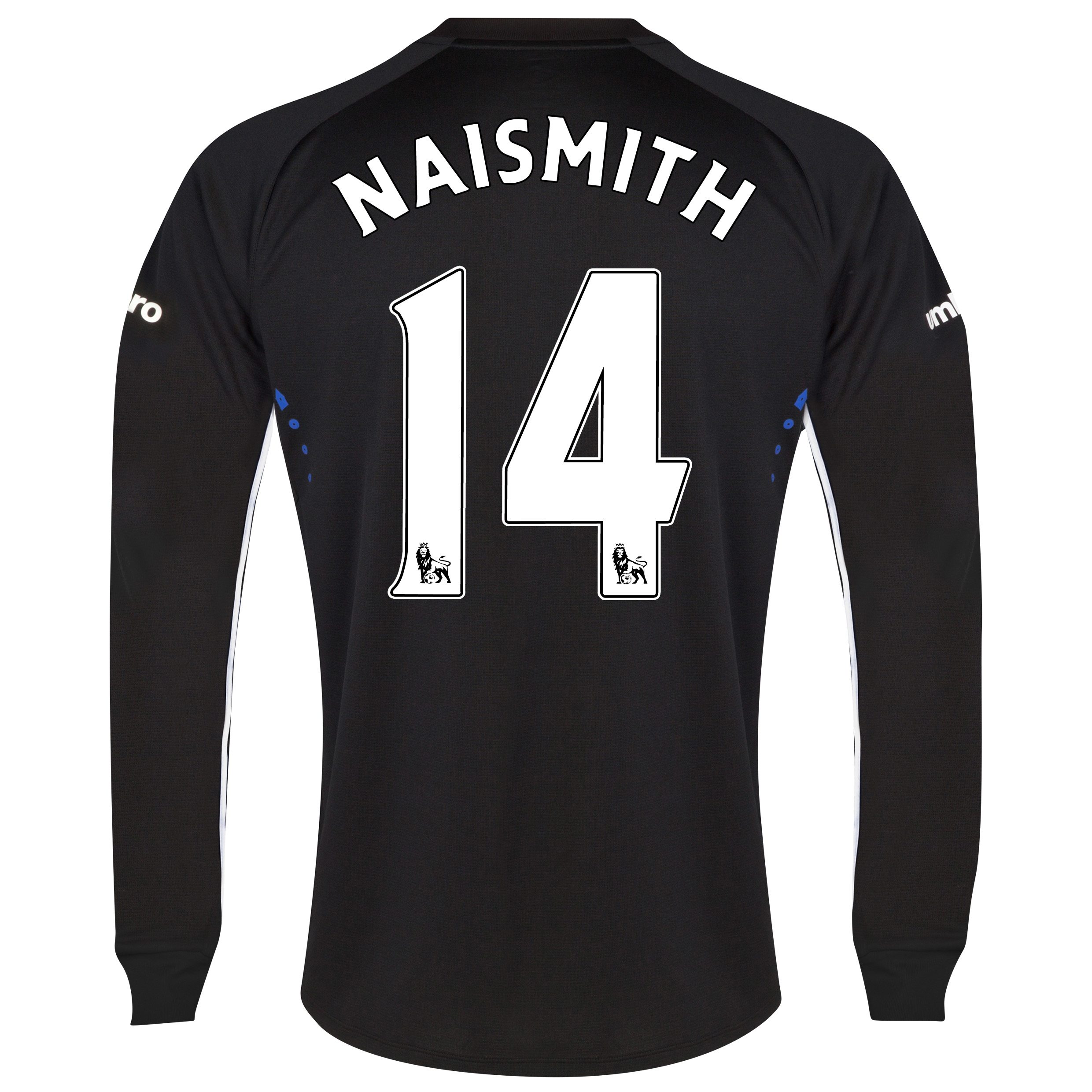 Everton LS Away Shirt 2014/15 with Naismith 14 printing