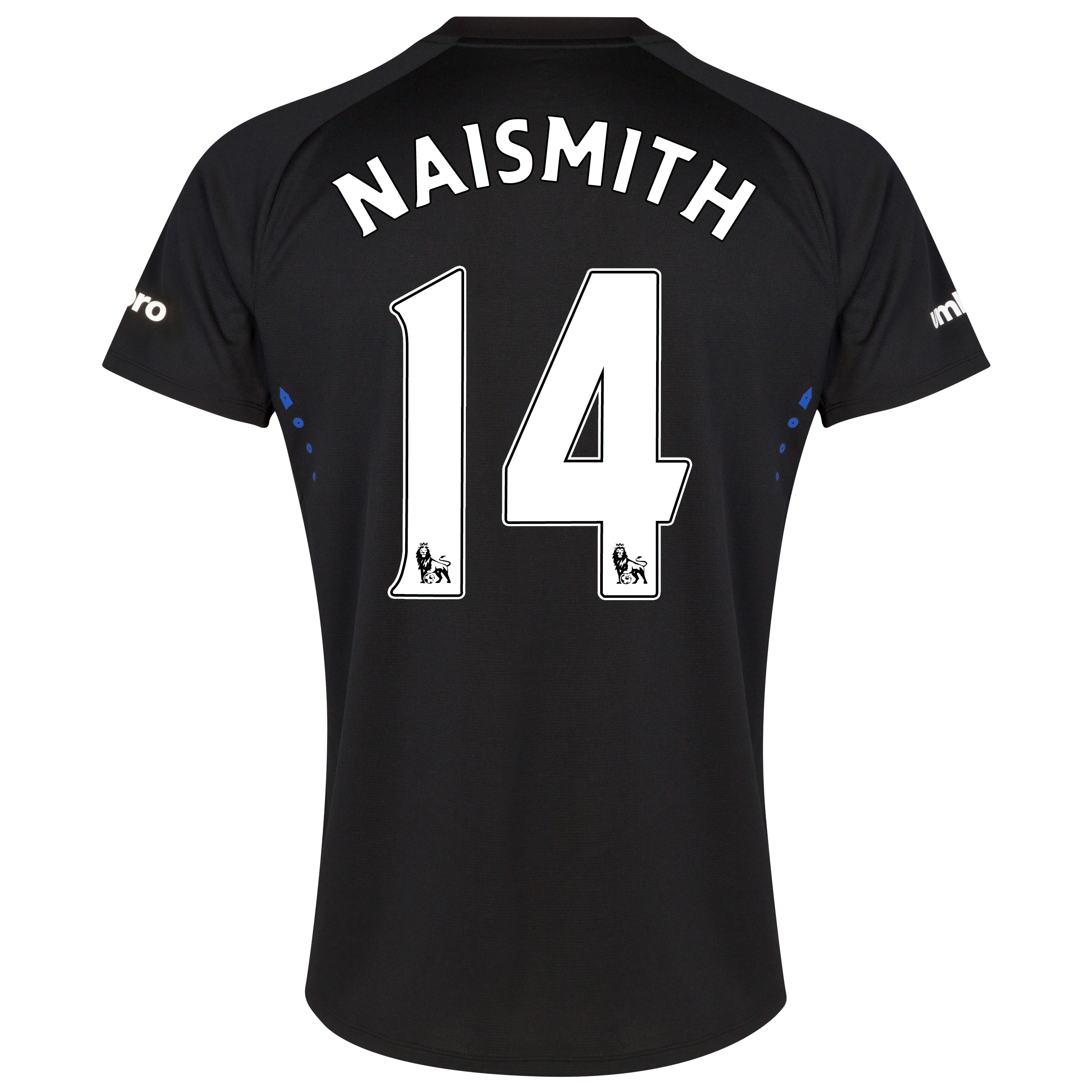 Everton SS Away Shirt 2014/15 - Junior with Naismith 14 printing