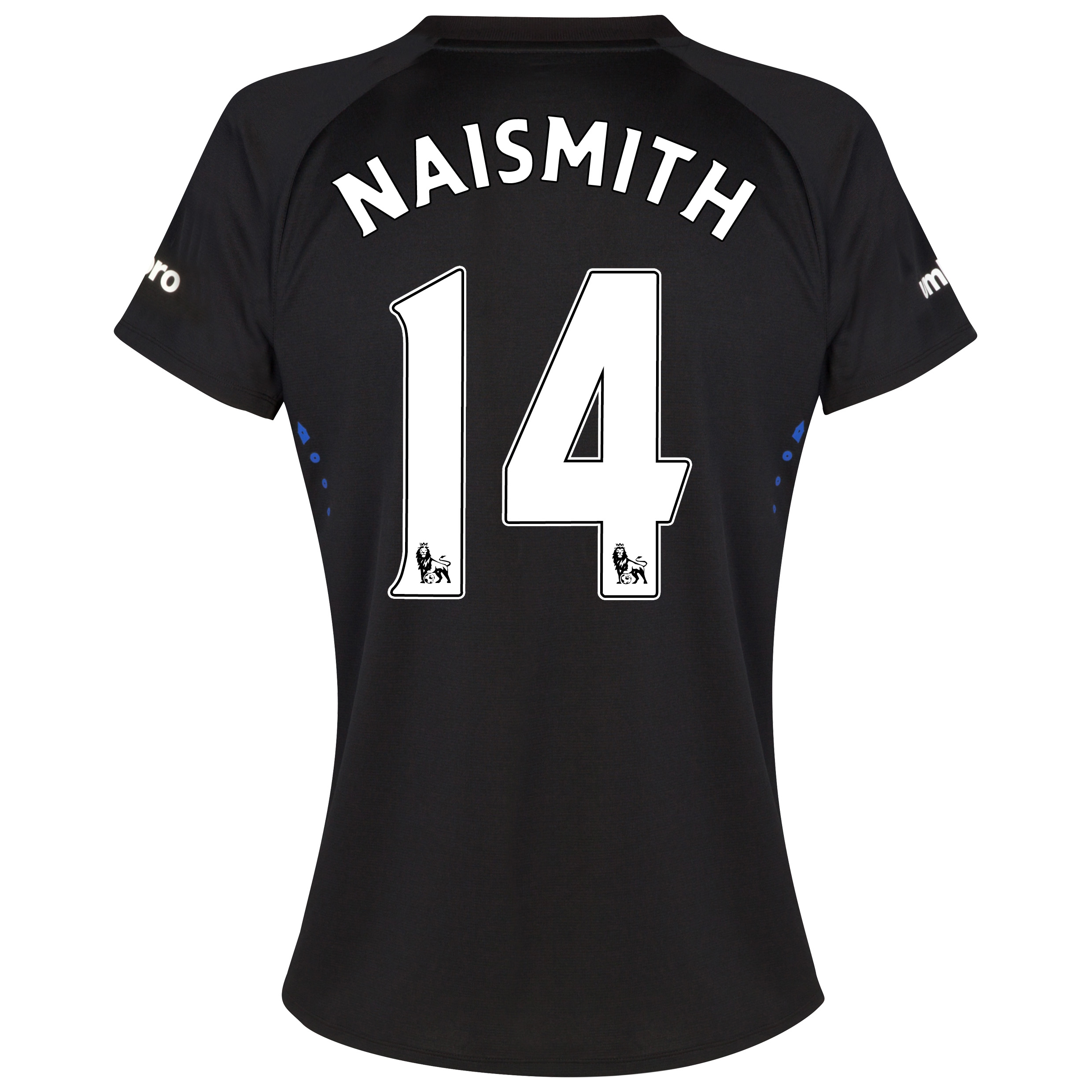 Everton SS Away Shirt 2014/15 - Womens with Naismith 14 printing