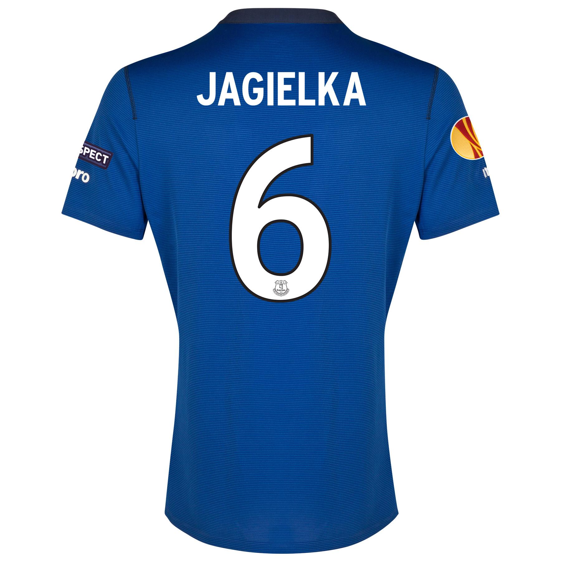 Everton UEFA Europa League Home Shirt 2014/15 with Jagielka 6 printing