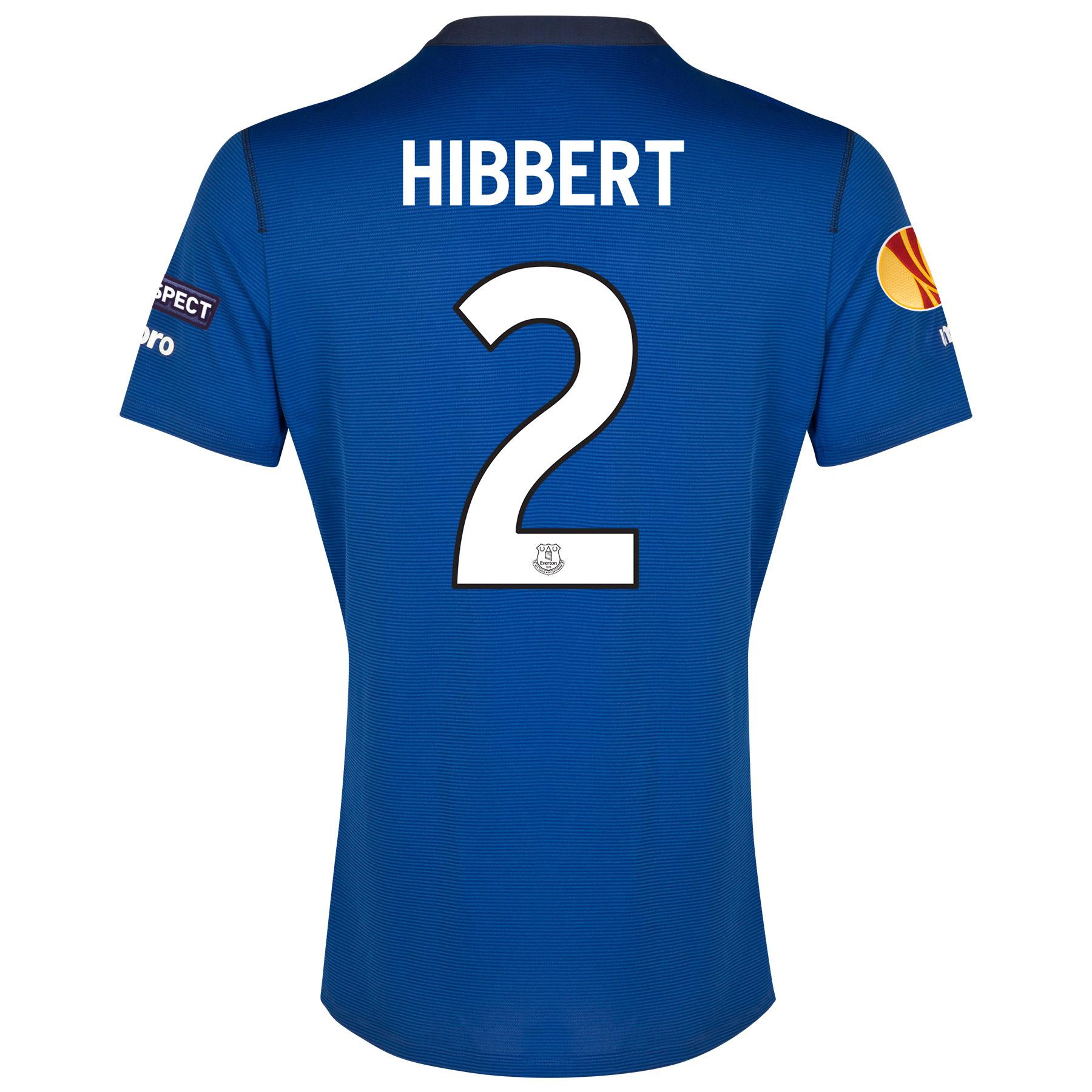 Everton UEFA Europa League Home Shirt 2014/15 SS - Junior with Hibbert 2 printing