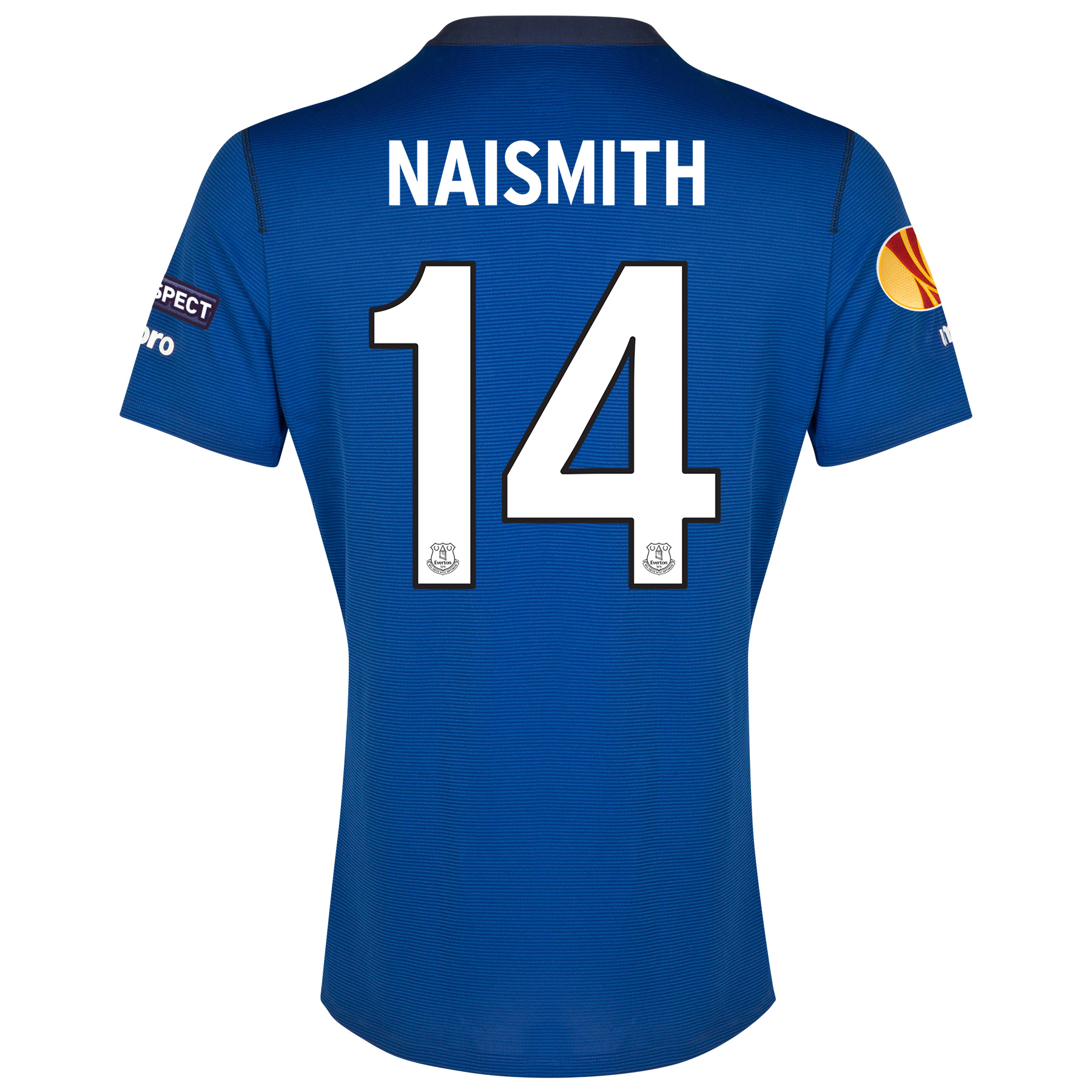 Everton UEFA Europa League Home Shirt 2014/15 SS - Junior with Naismith 14 printing
