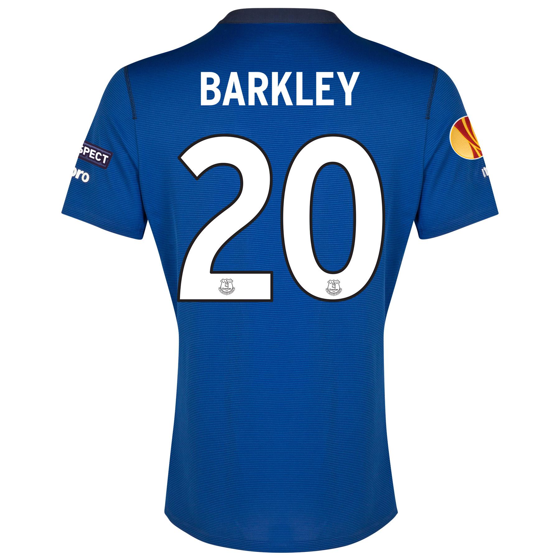 Everton UEFA Europa League Home Shirt 2014/15 SS - Junior with Barkley 20 printing