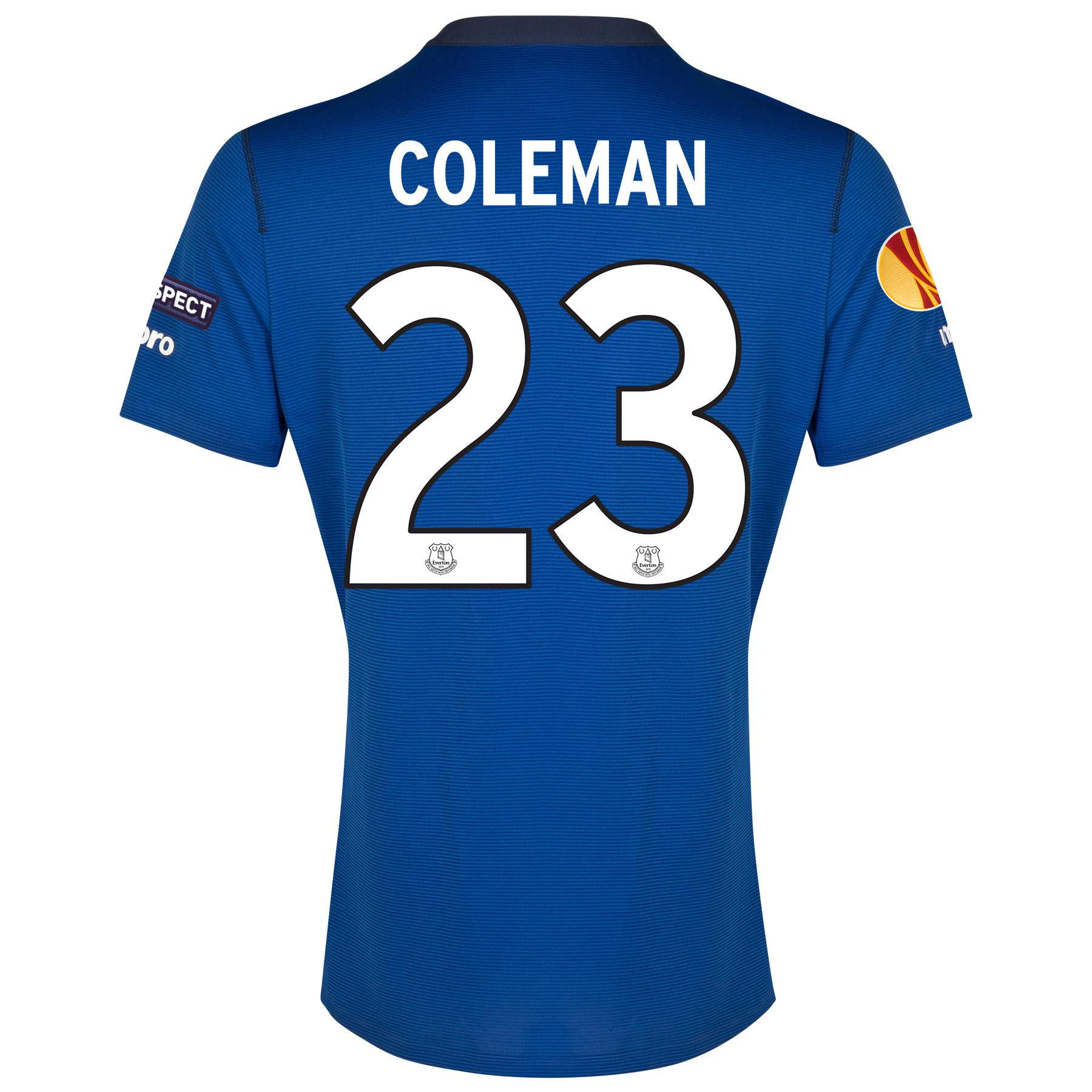 Everton UEFA Europa League Home Shirt 2014/15 SS - Junior with Coleman 23 printing