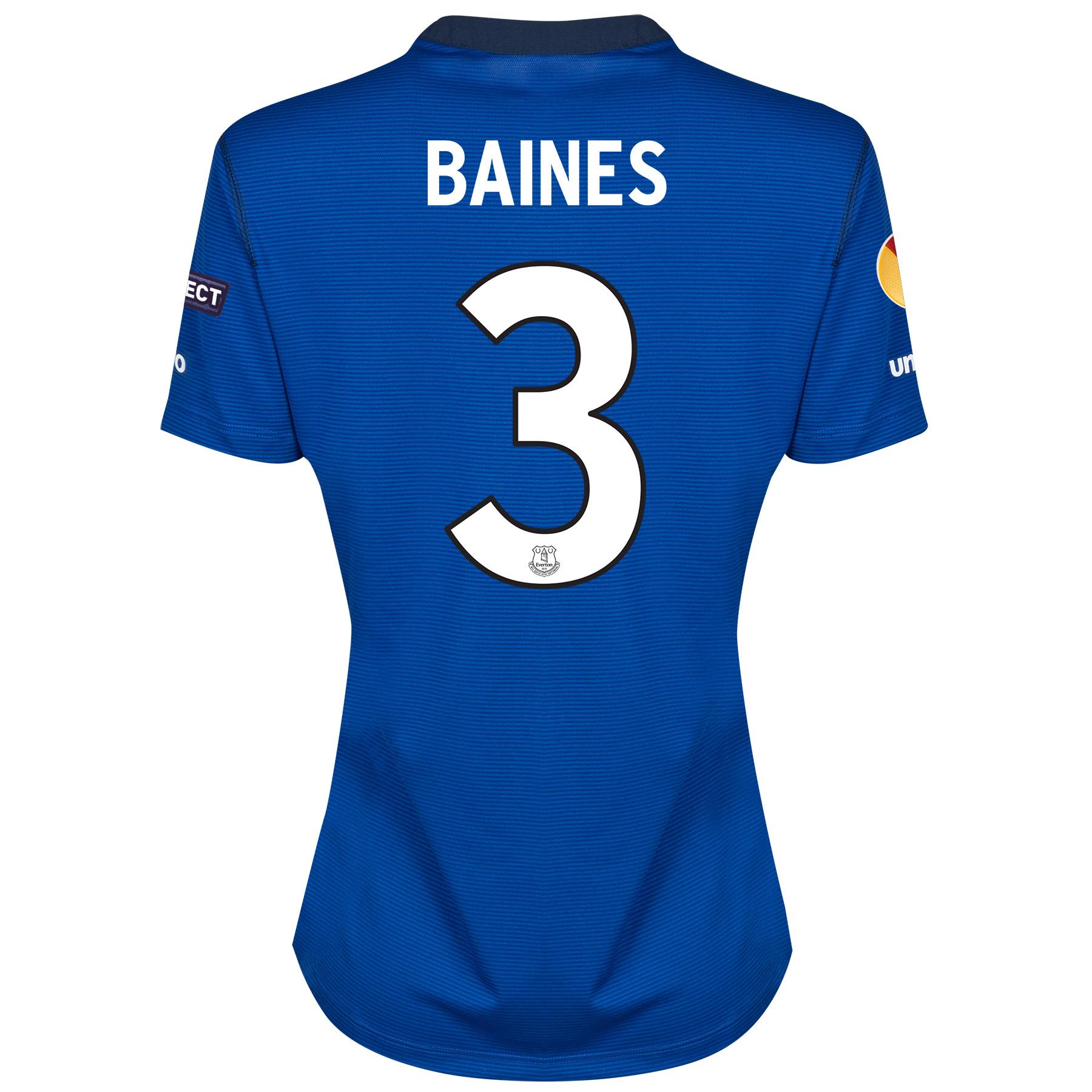 Everton UEFA Europa League Home Shirt 2014/15 - Womens with Baines 3 printing