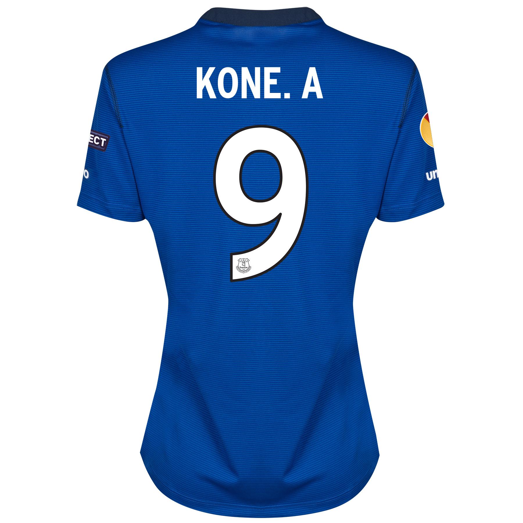 Everton UEFA Europa League Home Shirt 2014/15 - Womens with Kone.A 9 printing
