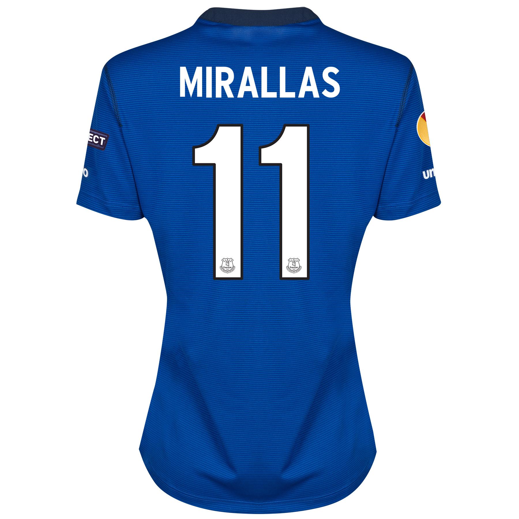 Everton UEFA Europa League Home Shirt 2014/15 - Womens with Mirallas 11 printing