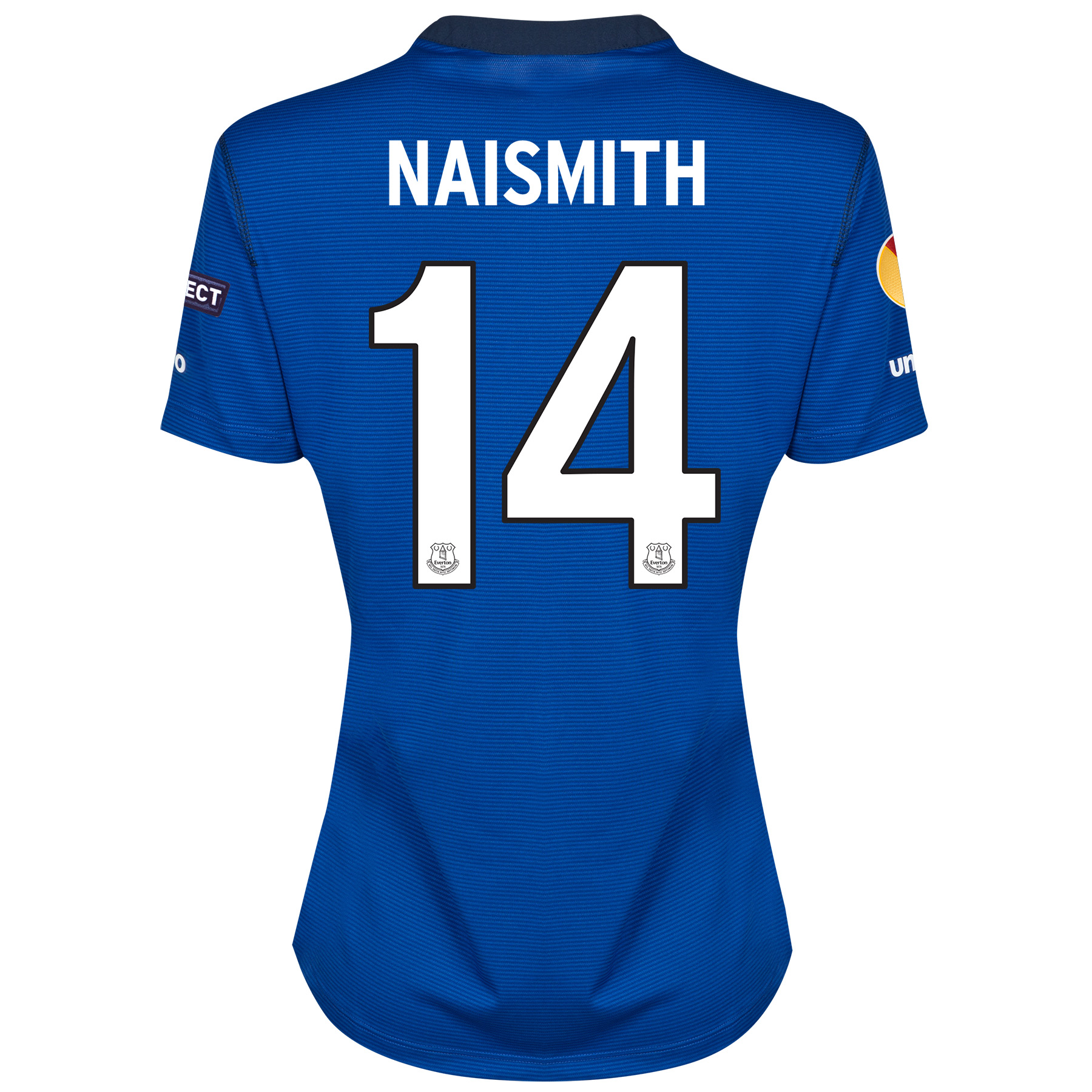 Everton UEFA Europa League Home Shirt 2014/15 - Womens with Naismith 14 printing