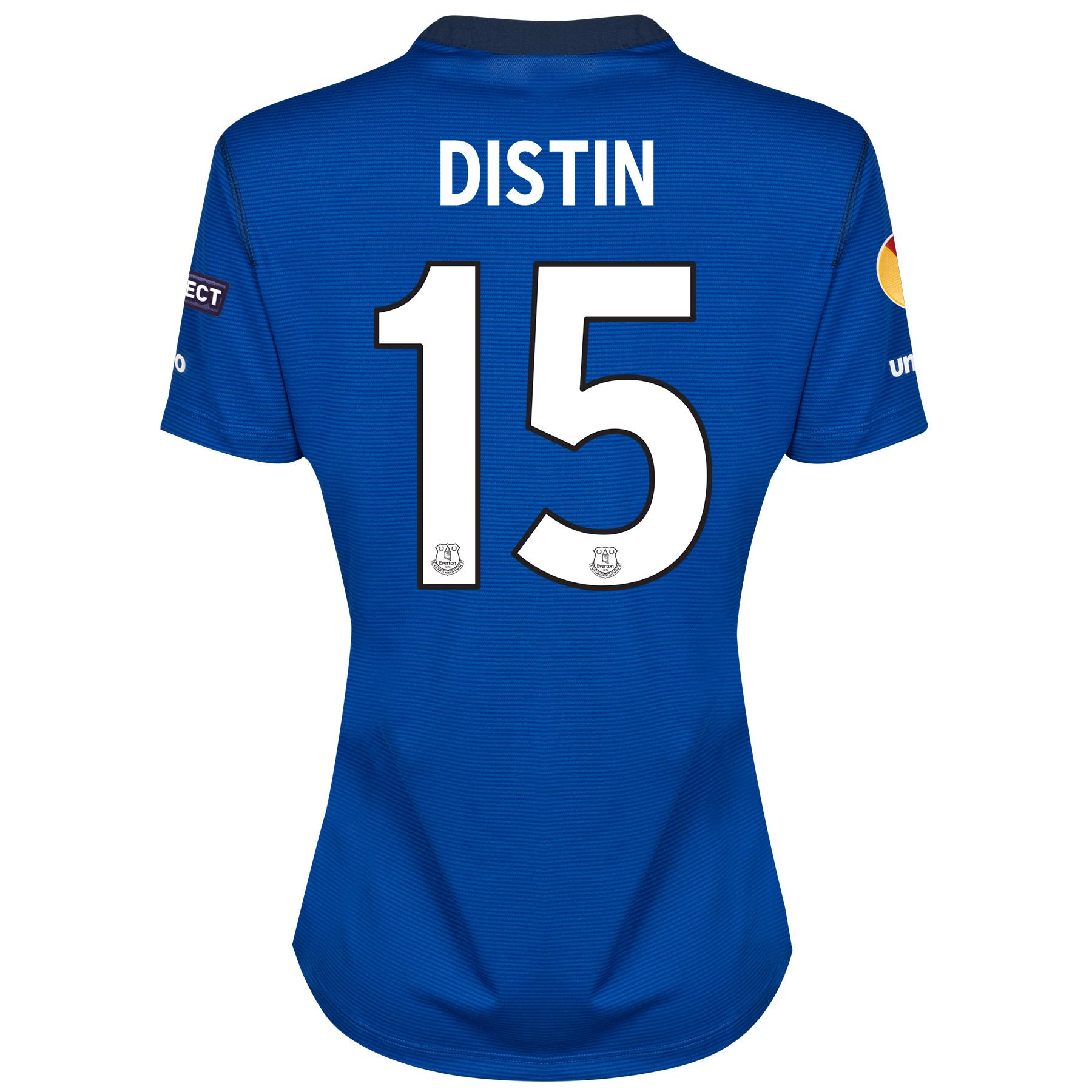 Everton UEFA Europa League Home Shirt 2014/15 - Womens with Distin 15 printing