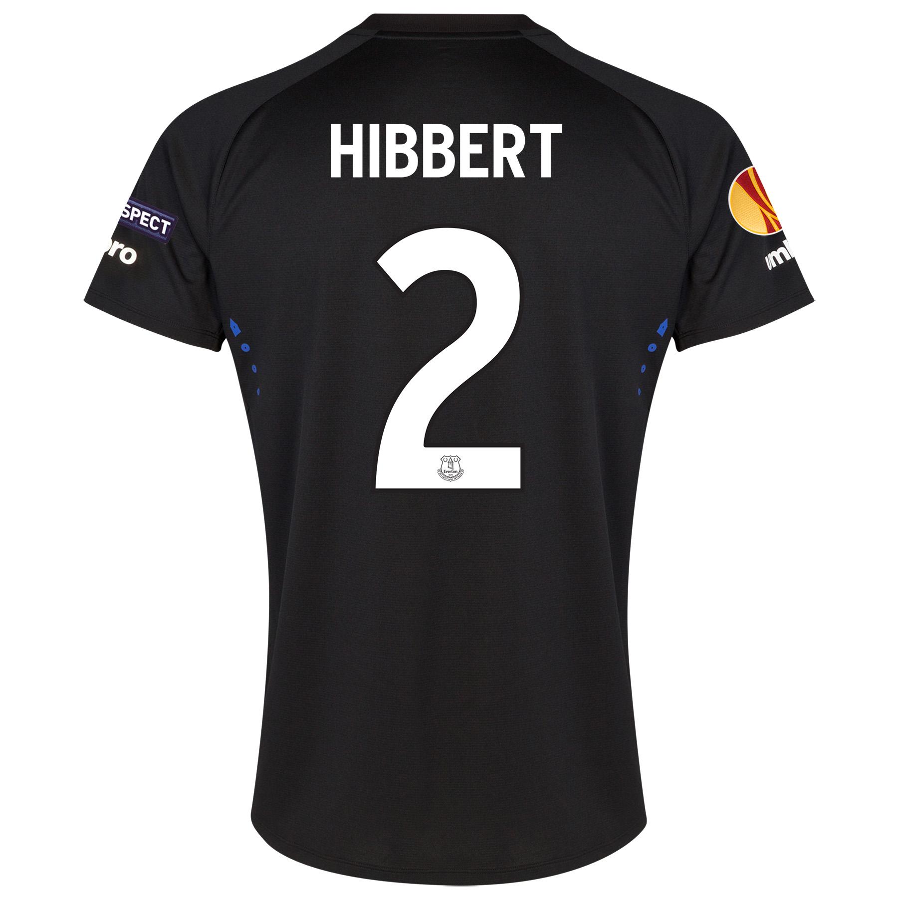 Everton UEFA Europa League Away Shirt 2014/15 with Hibbert 2 printing