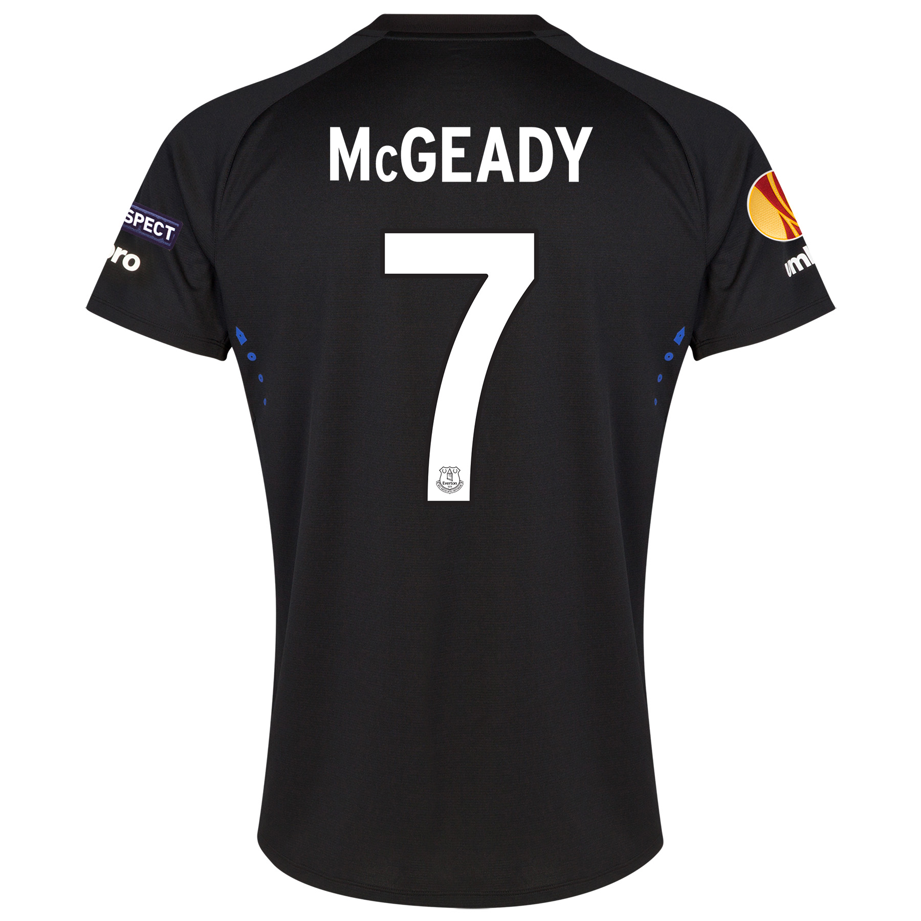 Everton UEFA Europa League Away Shirt 2014/15 with McGeady 7 printing
