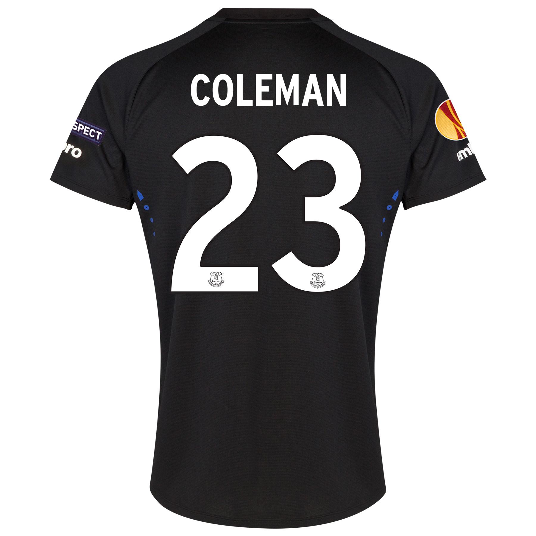Everton UEFA Europa League Away Shirt 2014/15 with Coleman 23 printing