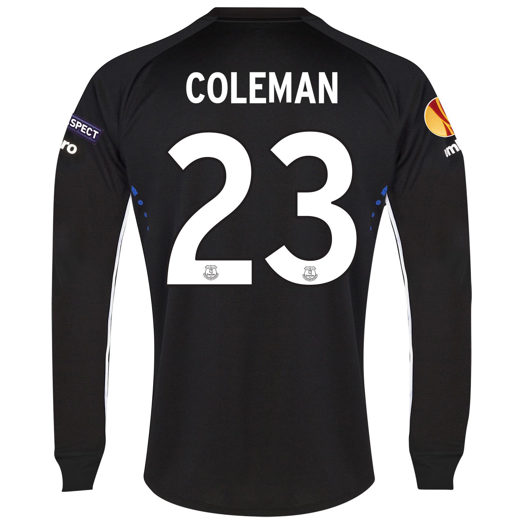 Everton UEFA Europa League Away Shirt 2014/15 LS with Coleman 23 printing