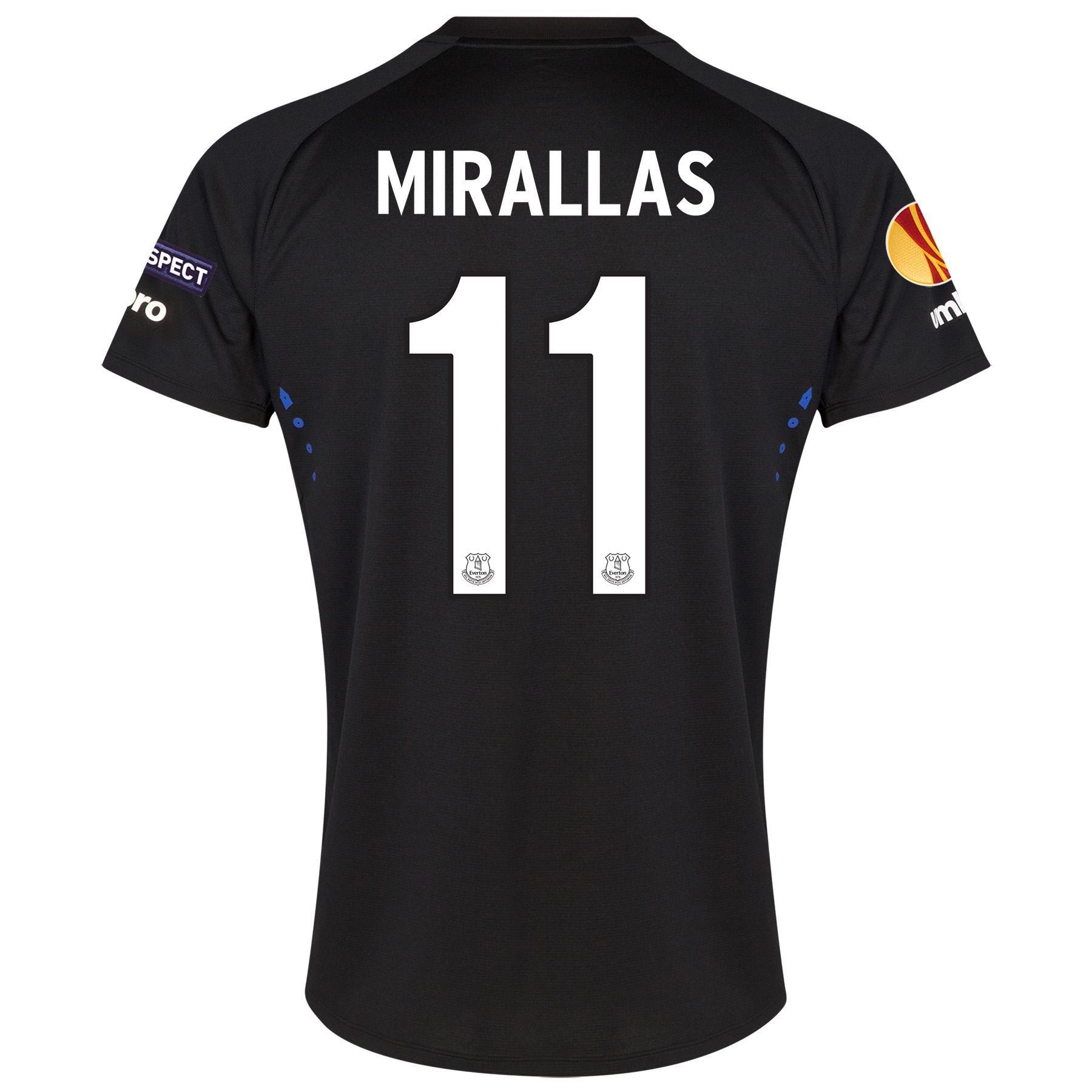 Everton UEFA Europa League Away Shirt 2014/15 SS - Junior with Mirallas 11 printing