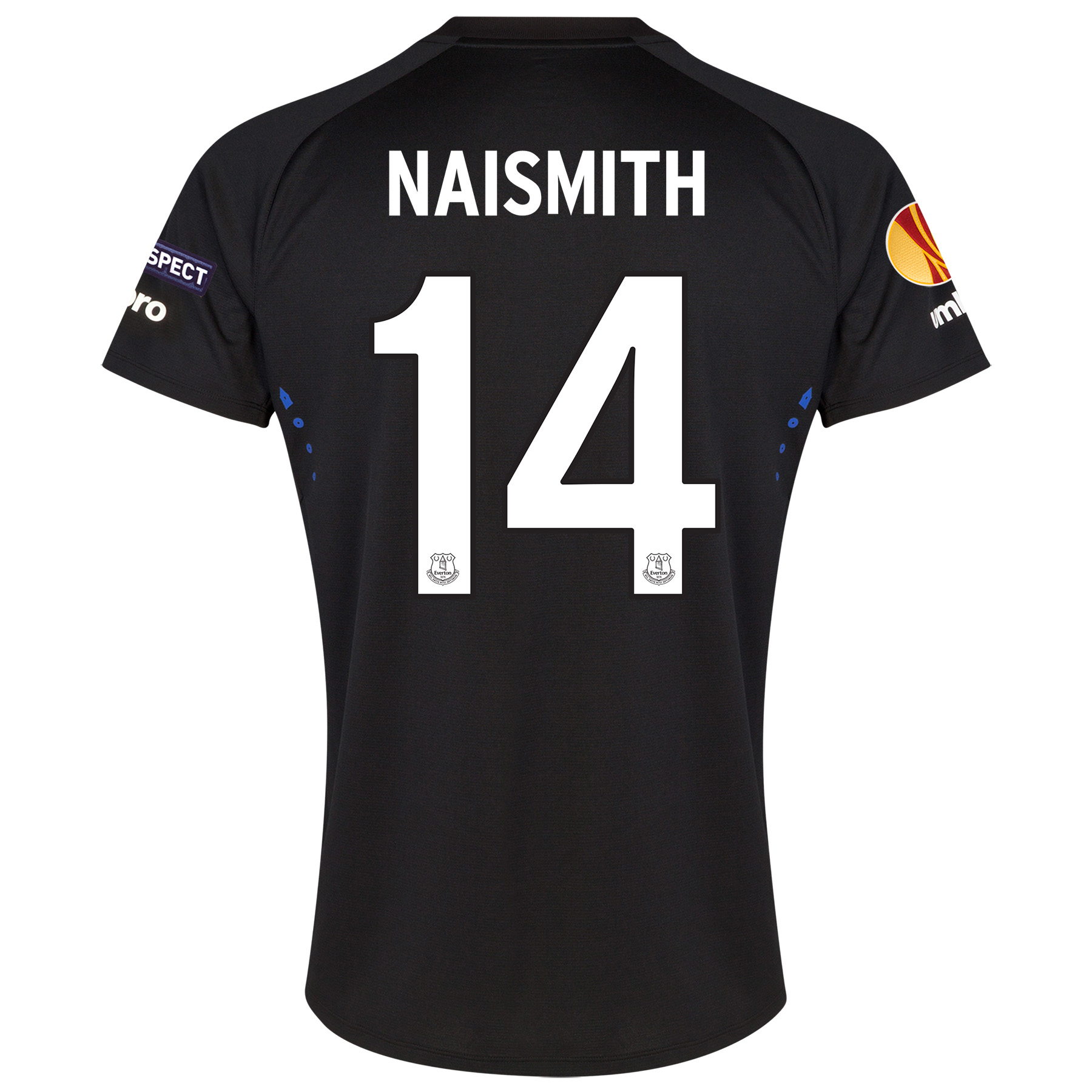 Everton UEFA Europa League Away Shirt 2014/15 SS - Junior with Naismith 14 printing