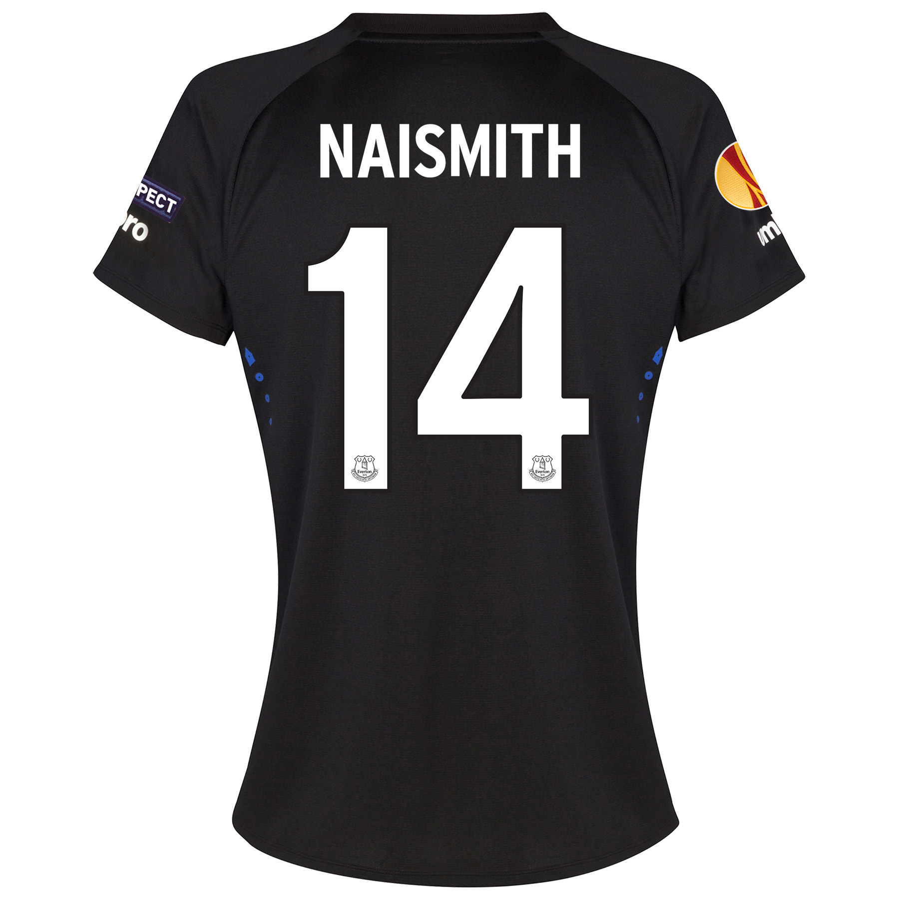 Everton UEFA Europa League Away Shirt 2014/15 - Womens with Naismith 14 printing
