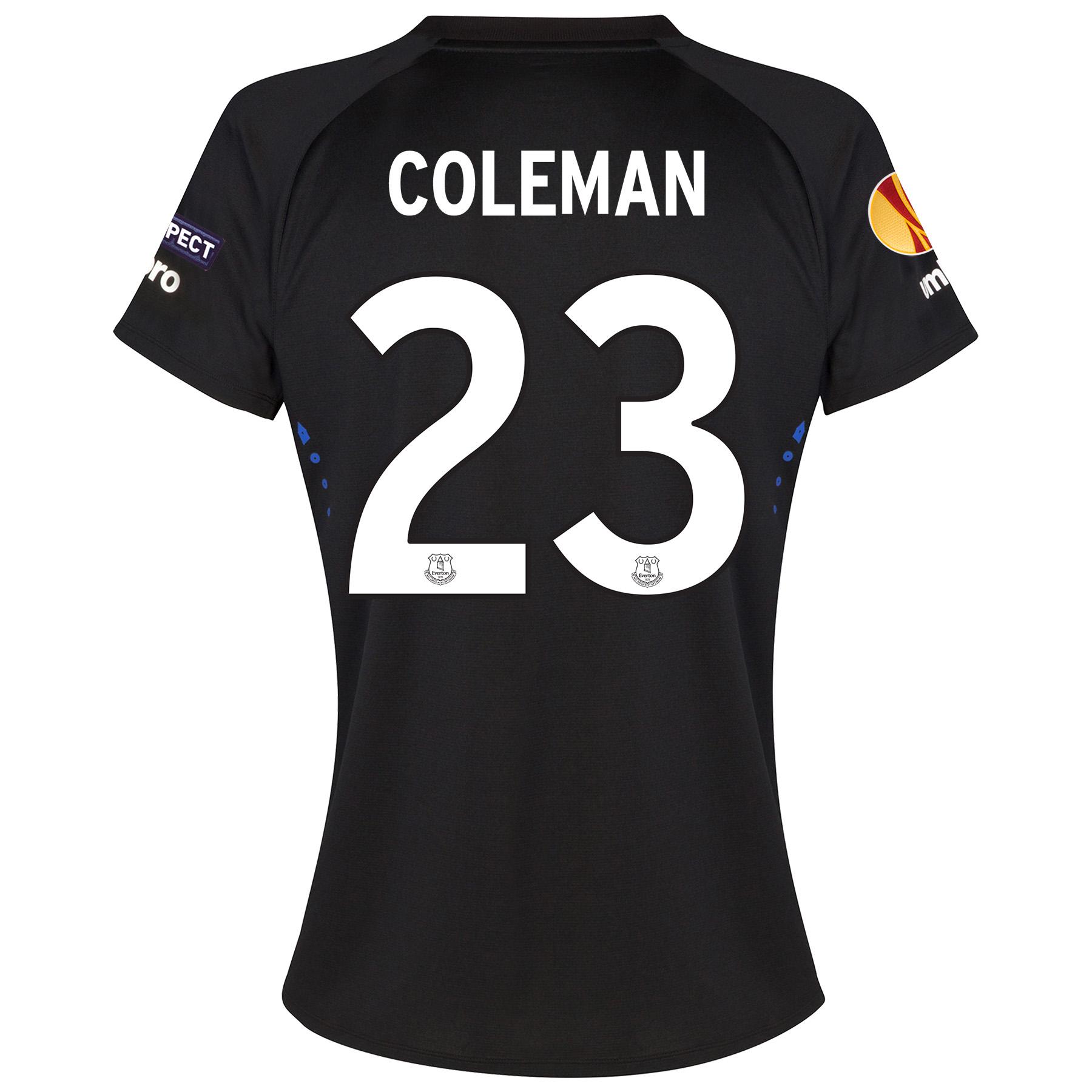 Everton UEFA Europa League Away Shirt 2014/15 - Womens with Coleman 23 printing