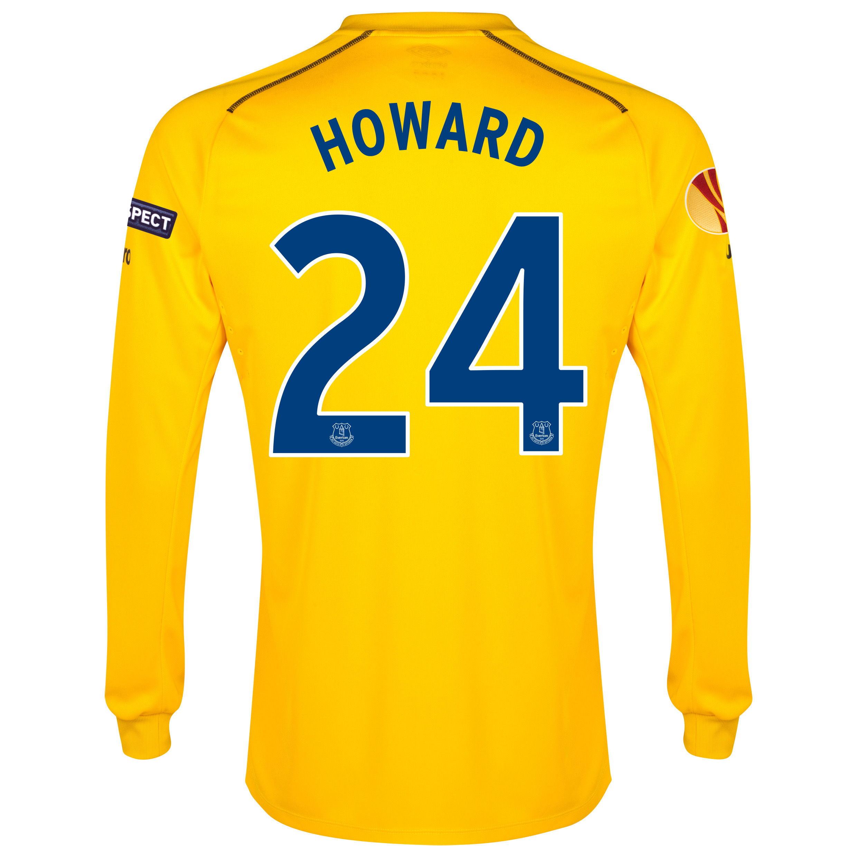 Everton UEFA Europa League Home GK Shirt 2014/15 with Howard 24 printing