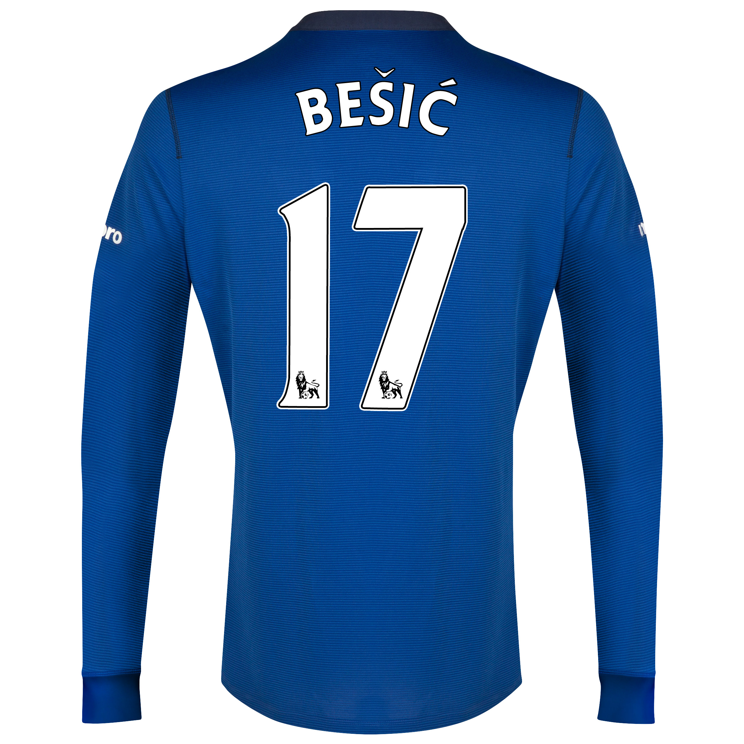 Everton LS Home Shirt 2014/15 with Besic 17 printing