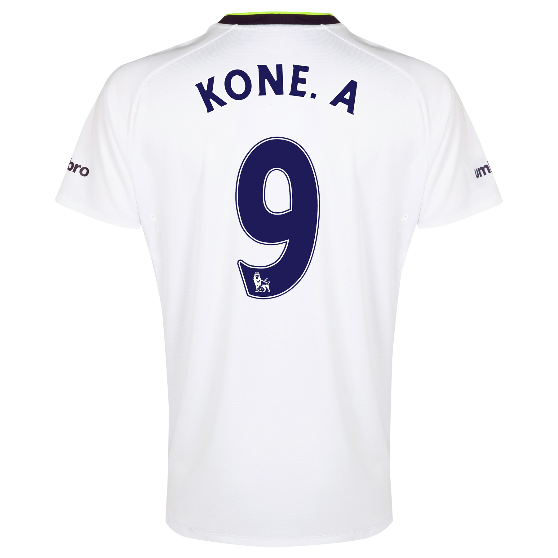 Everton SS 3rd Shirt  2014/15 with Kone.A 9 printing