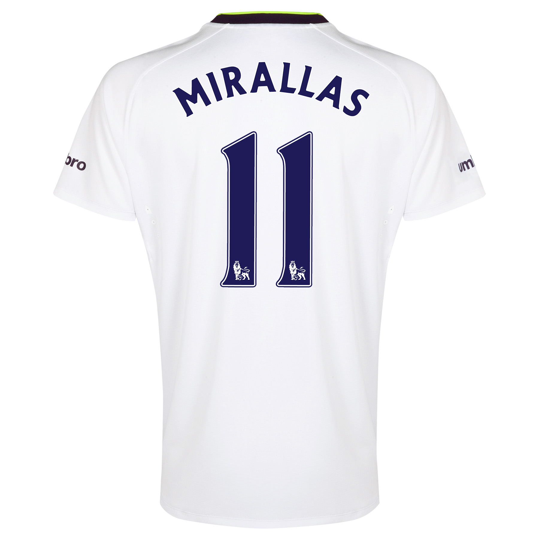 Everton SS 3rd Shirt  2014/15 with Mirallas 11 printing