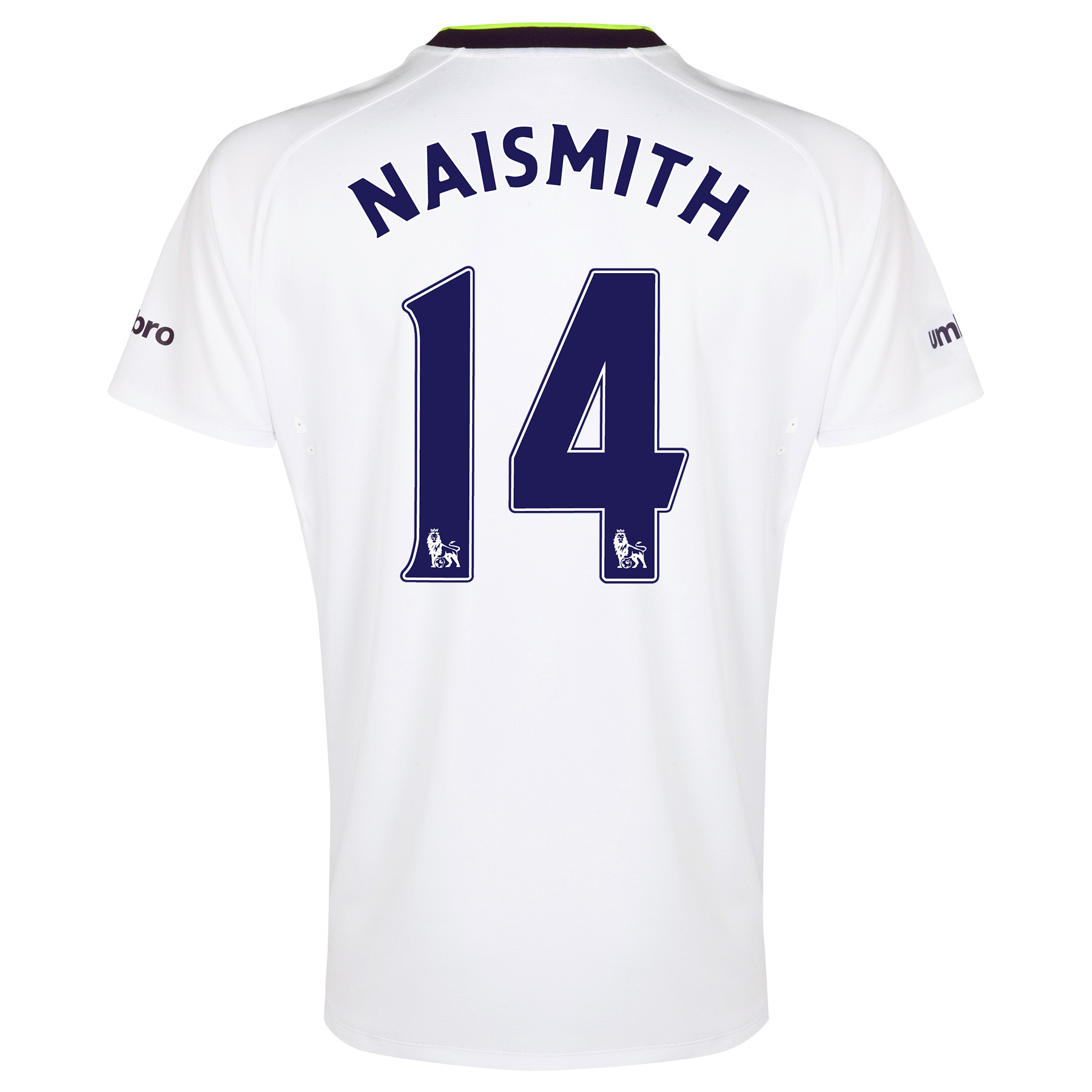 Everton SS 3rd Shirt  2014/15 with Naismith 14 printing