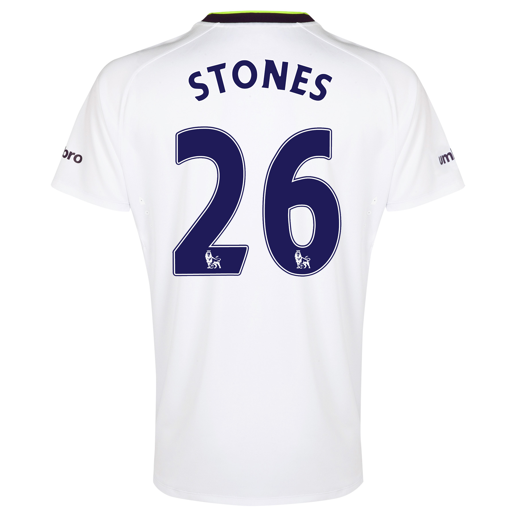 Everton SS 3rd Shirt  2014/15 with Stones 26 printing
