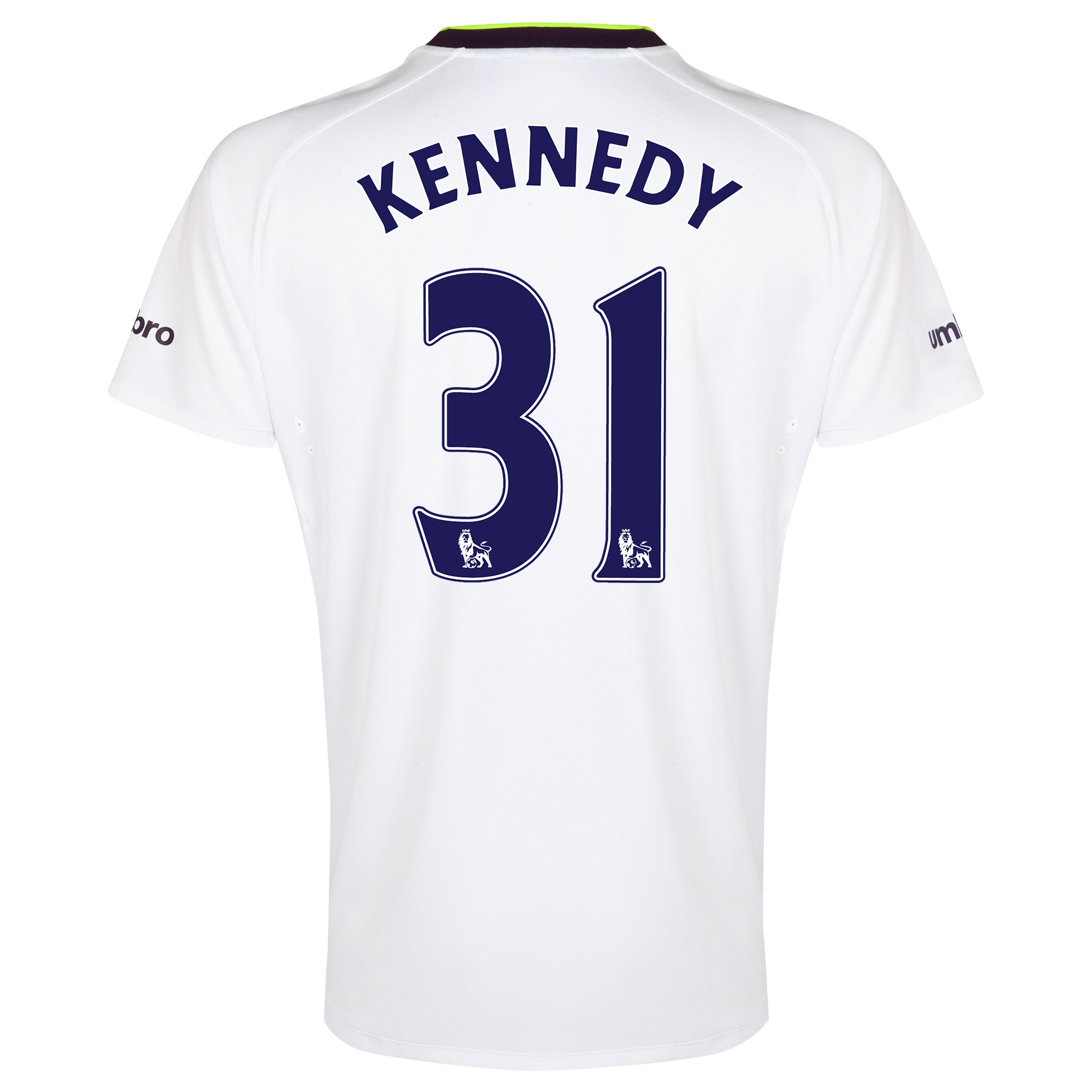 Everton SS 3rd Shirt  2014/15 with Kennedy 31 printing