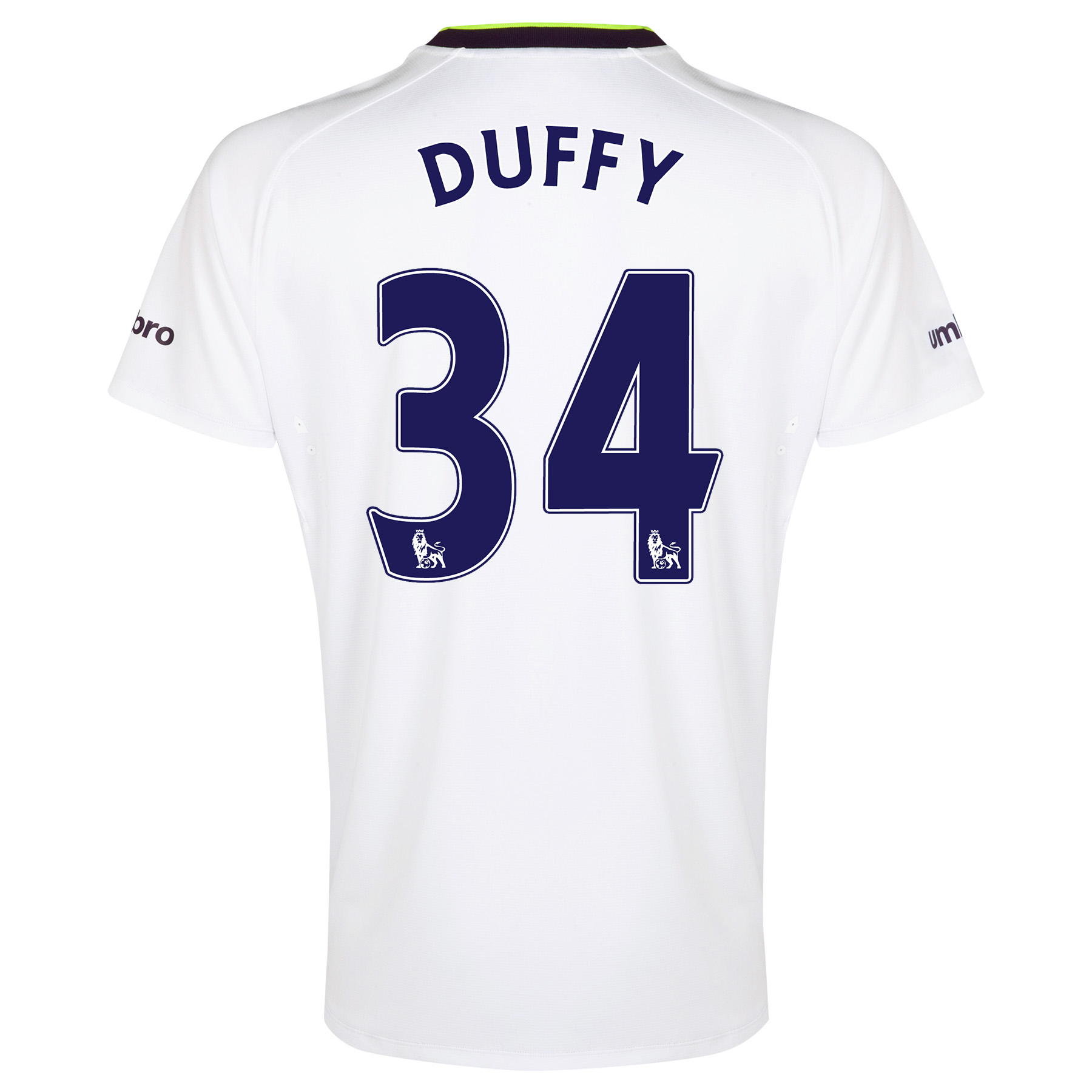 Everton SS 3rd Shirt  2014/15 with Duffy 34 printing