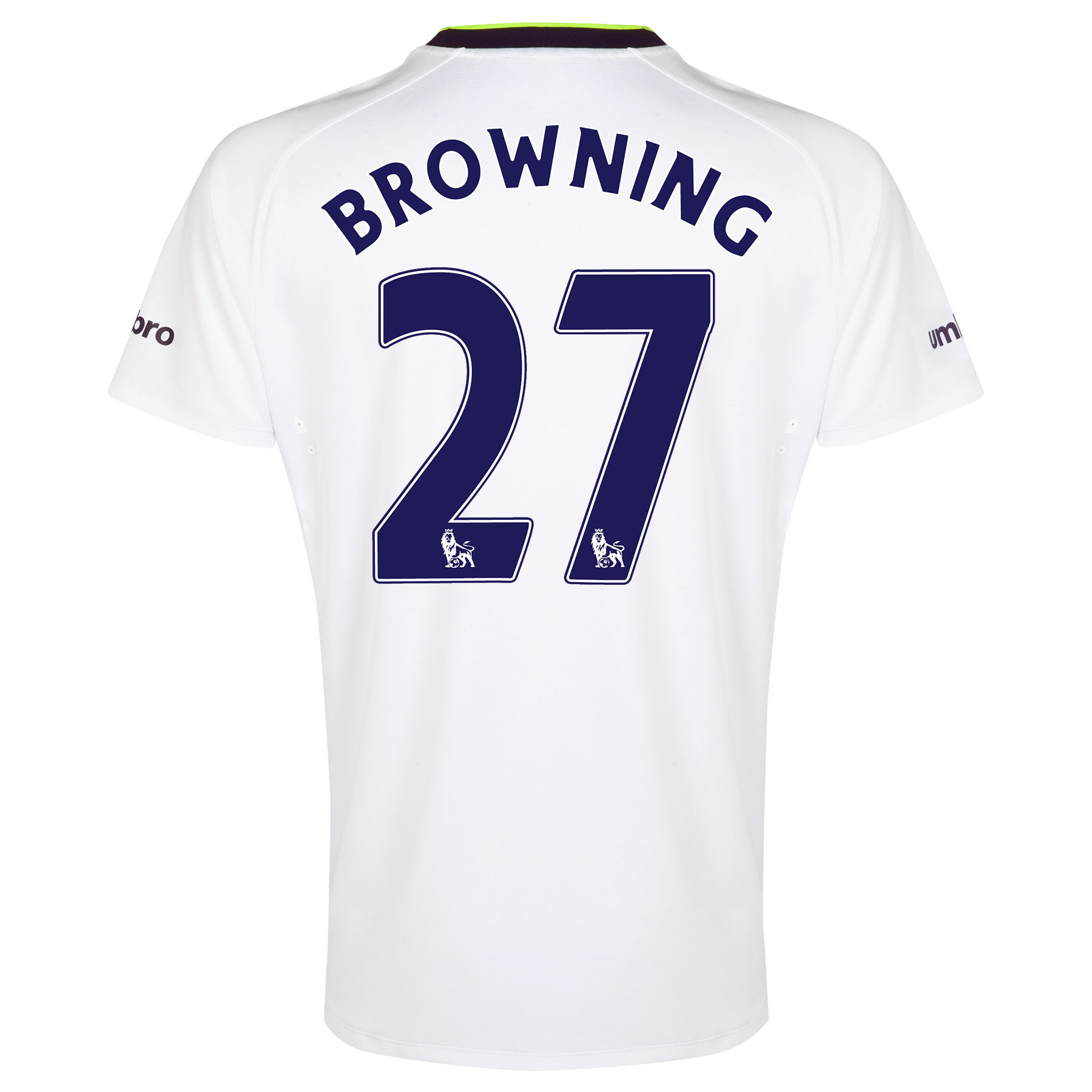 Everton SS 3rd Shirt  2014/15 with Browning 36 printing