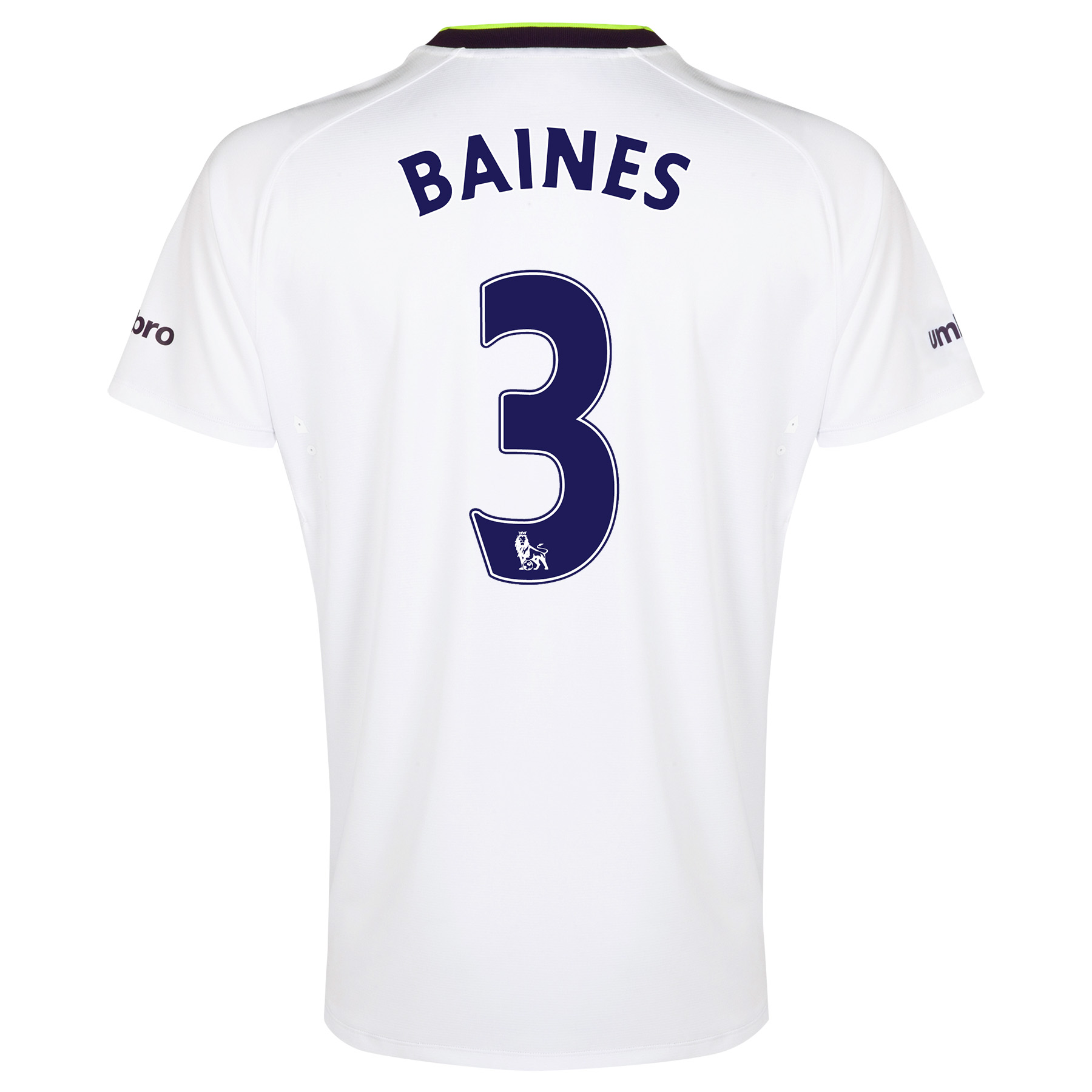Everton SS 3rd Shirt 2014/15 - Junior with Baines 3 printing