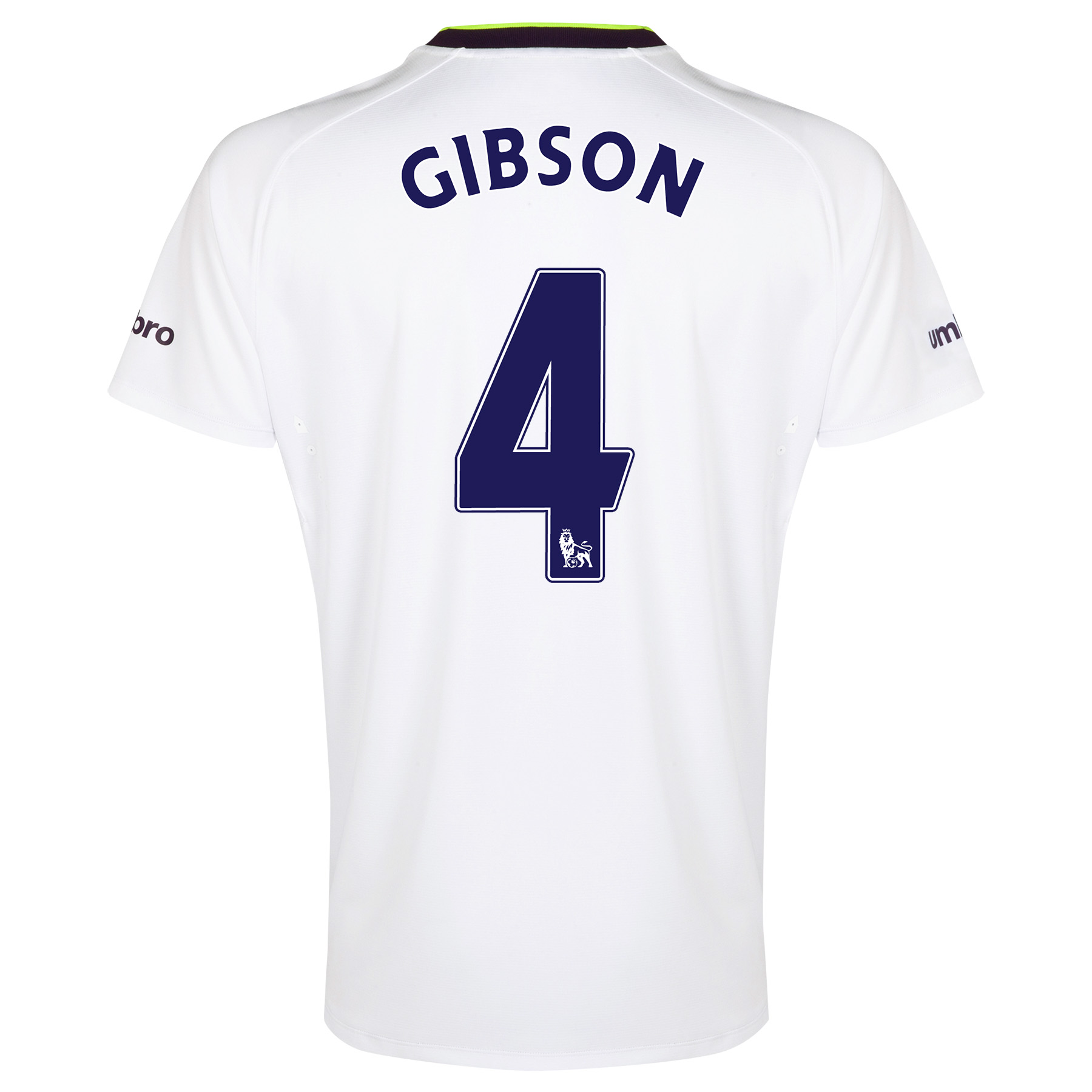 Everton SS 3rd Shirt 2014/15 - Junior with Gibson 4 printing