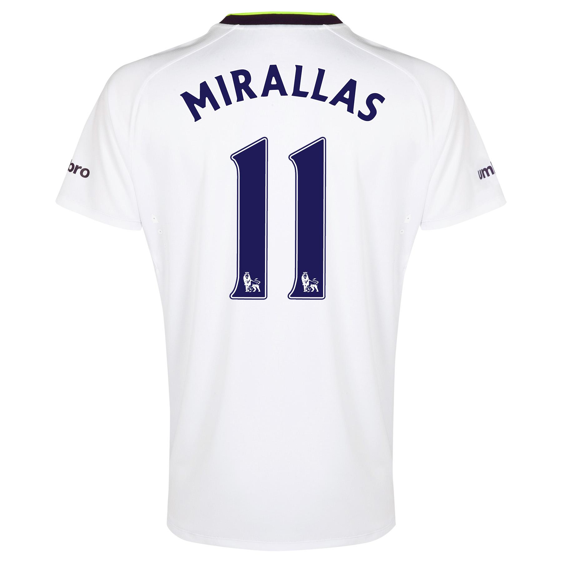 Everton SS 3rd Shirt 2014/15 - Junior with Mirallas 11 printing