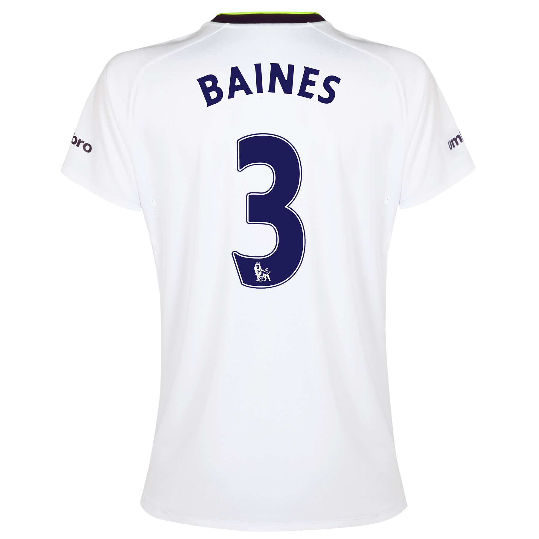 Everton SS 3rd Shirt 2014/15- Womens with Baines 3 printing