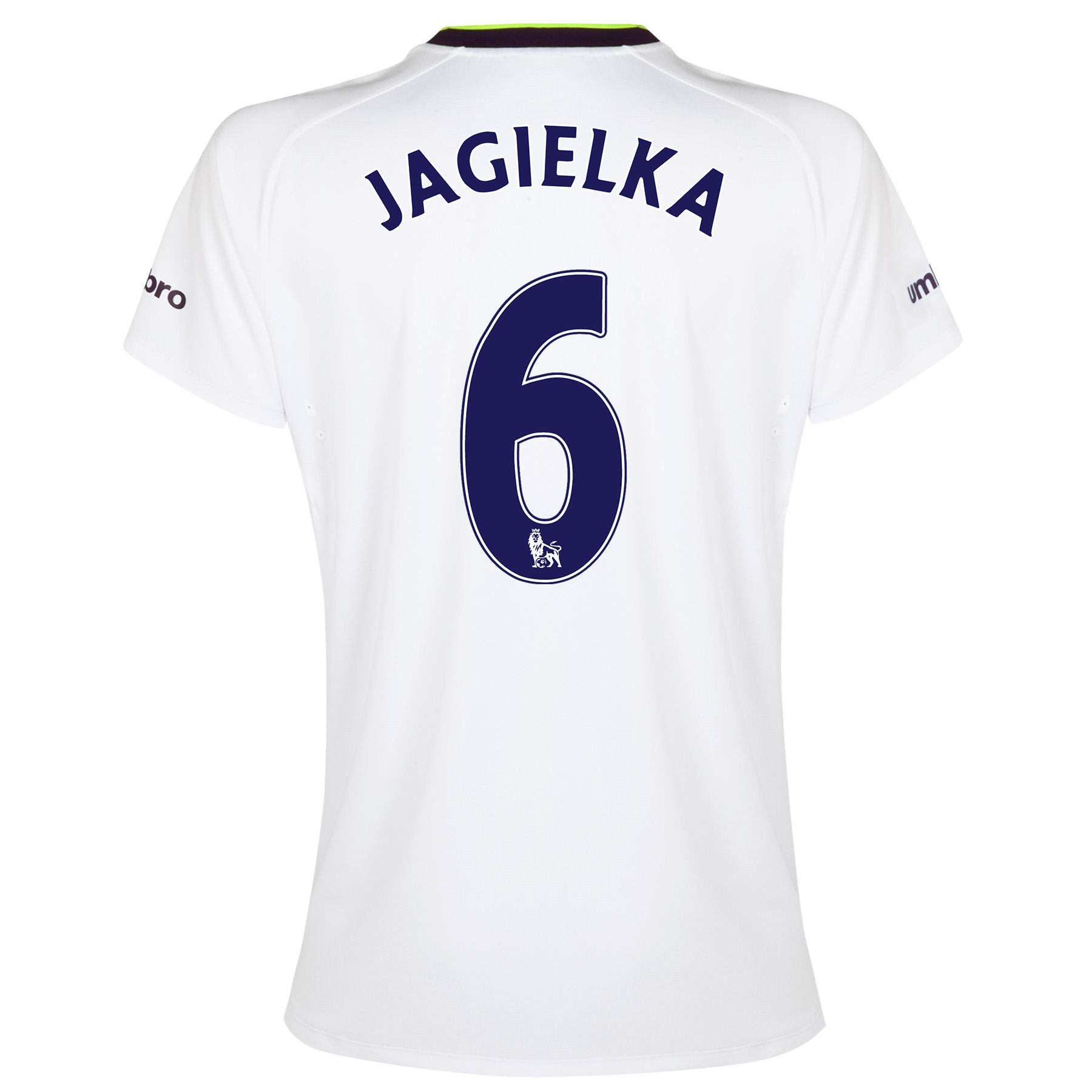 Everton SS 3rd Shirt 2014/15- Womens with Jagielka 6 printing
