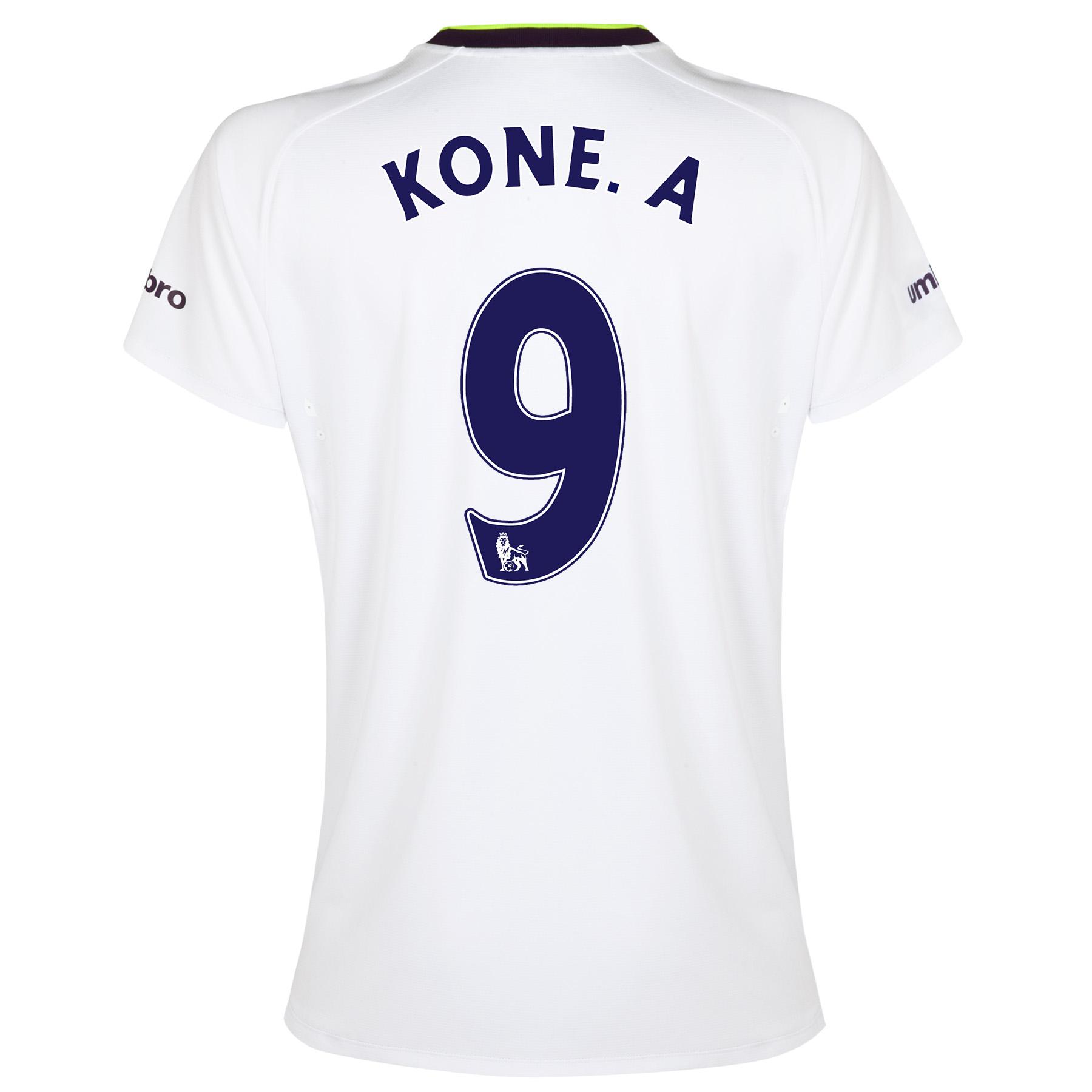 Everton SS 3rd Shirt 2014/15- Womens with Kone.A 9 printing