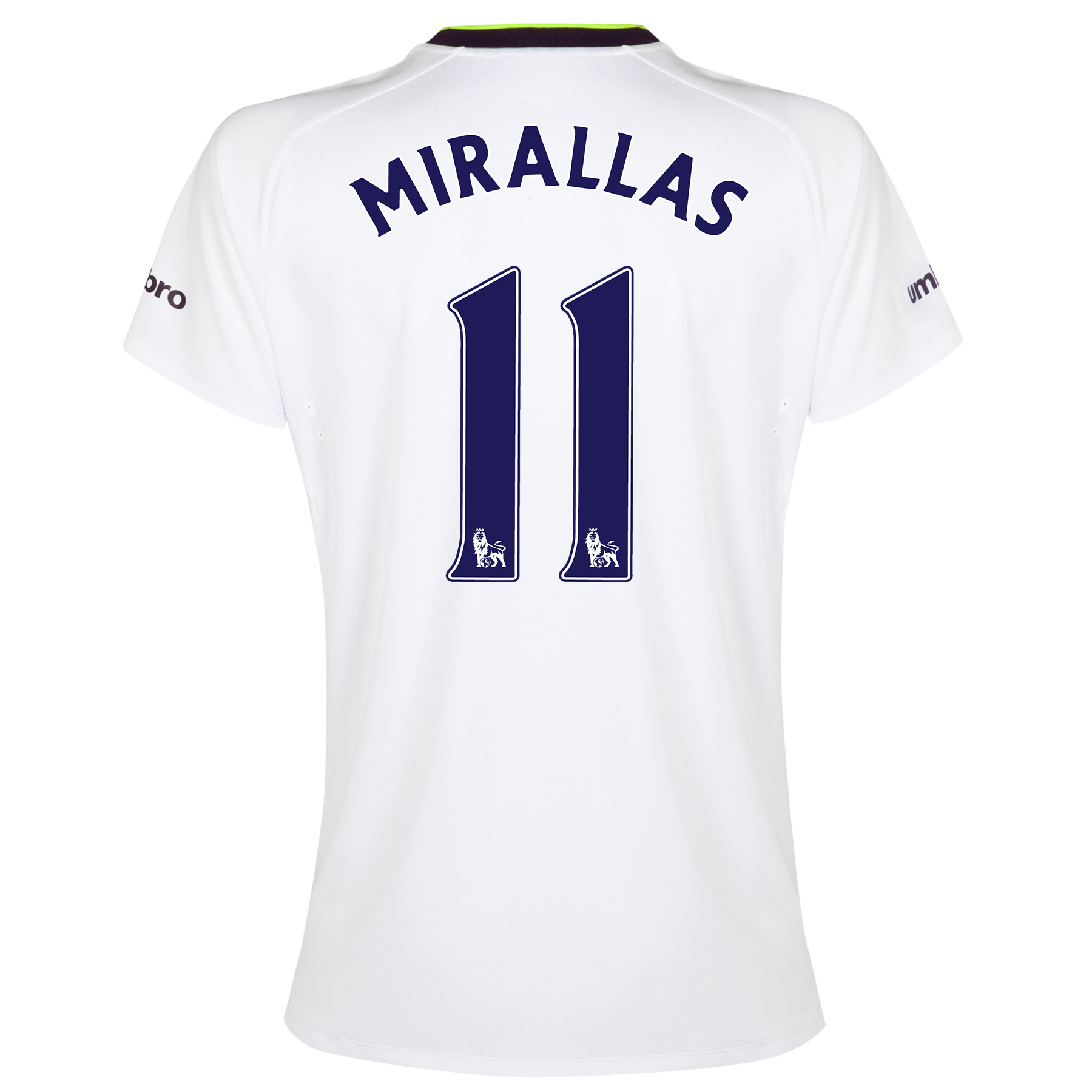 Everton SS 3rd Shirt 2014/15- Womens with Mirallas 11 printing