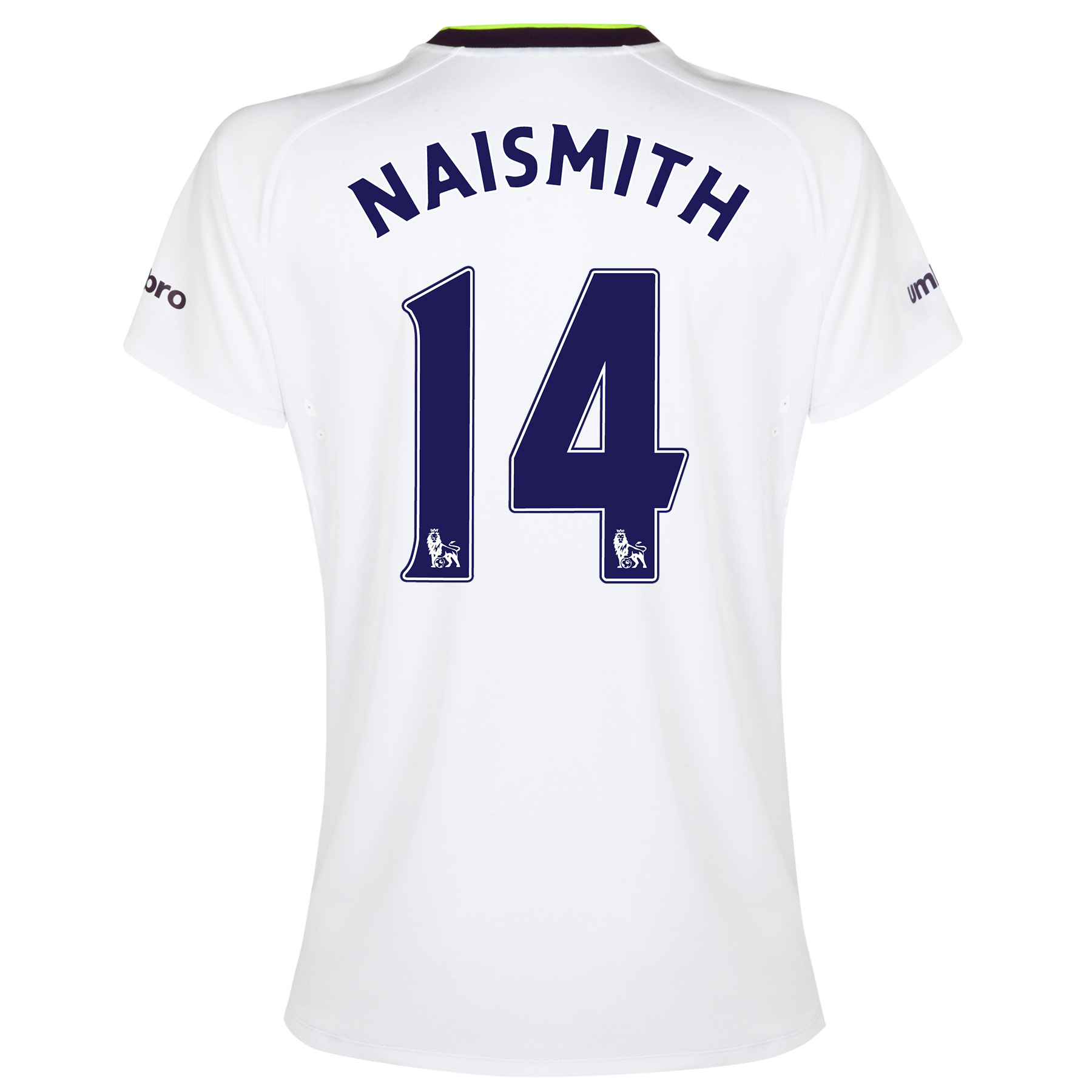 Everton SS 3rd Shirt 2014/15- Womens with Naismith 14 printing