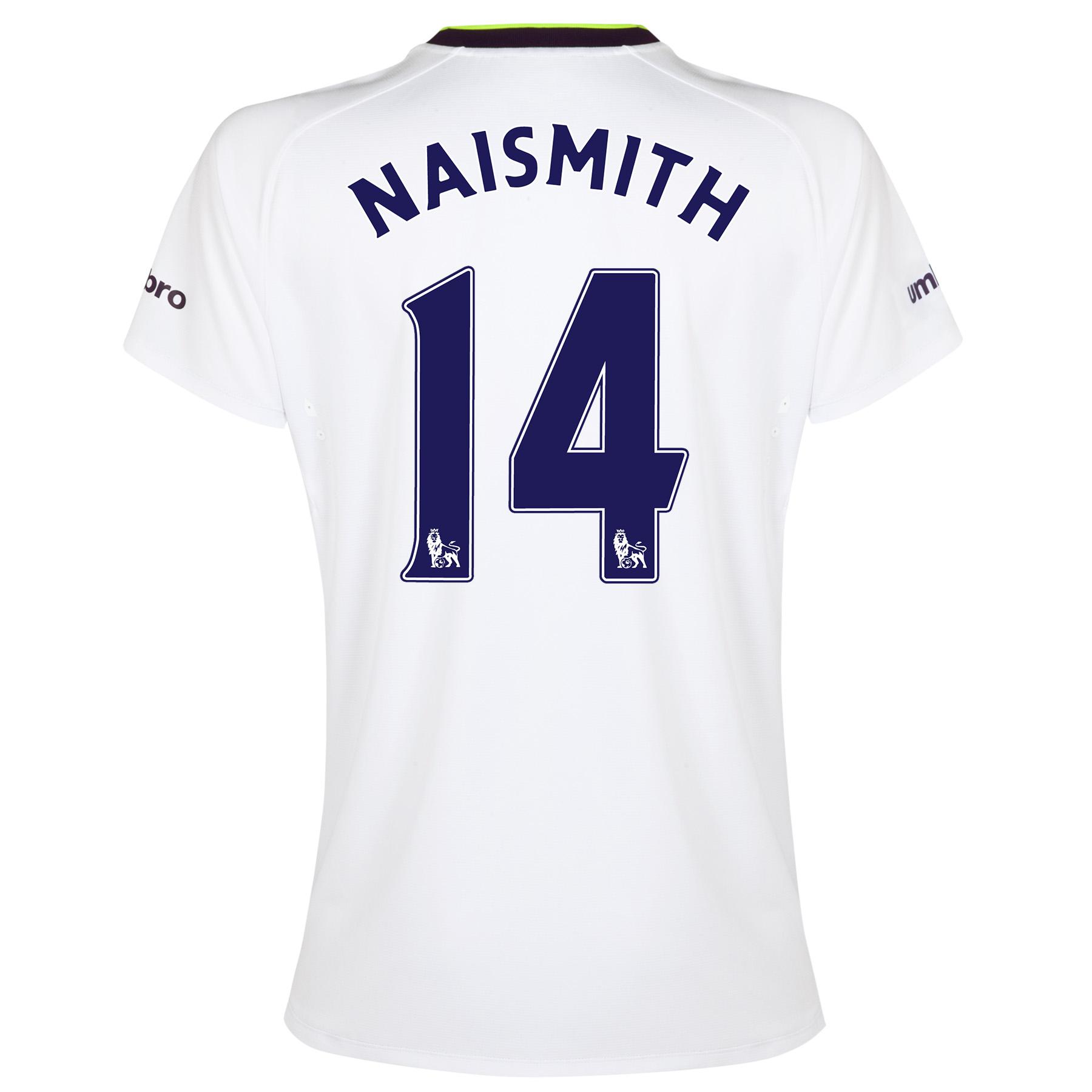 Everton SS 3rd Shirt 2014/15- Womens with Naismith 14 printing