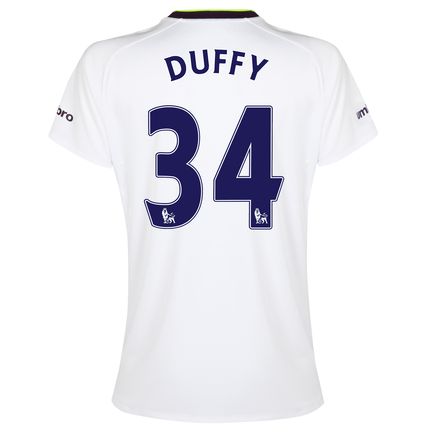 Everton SS 3rd Shirt 2014/15- Womens with Duffy 34 printing