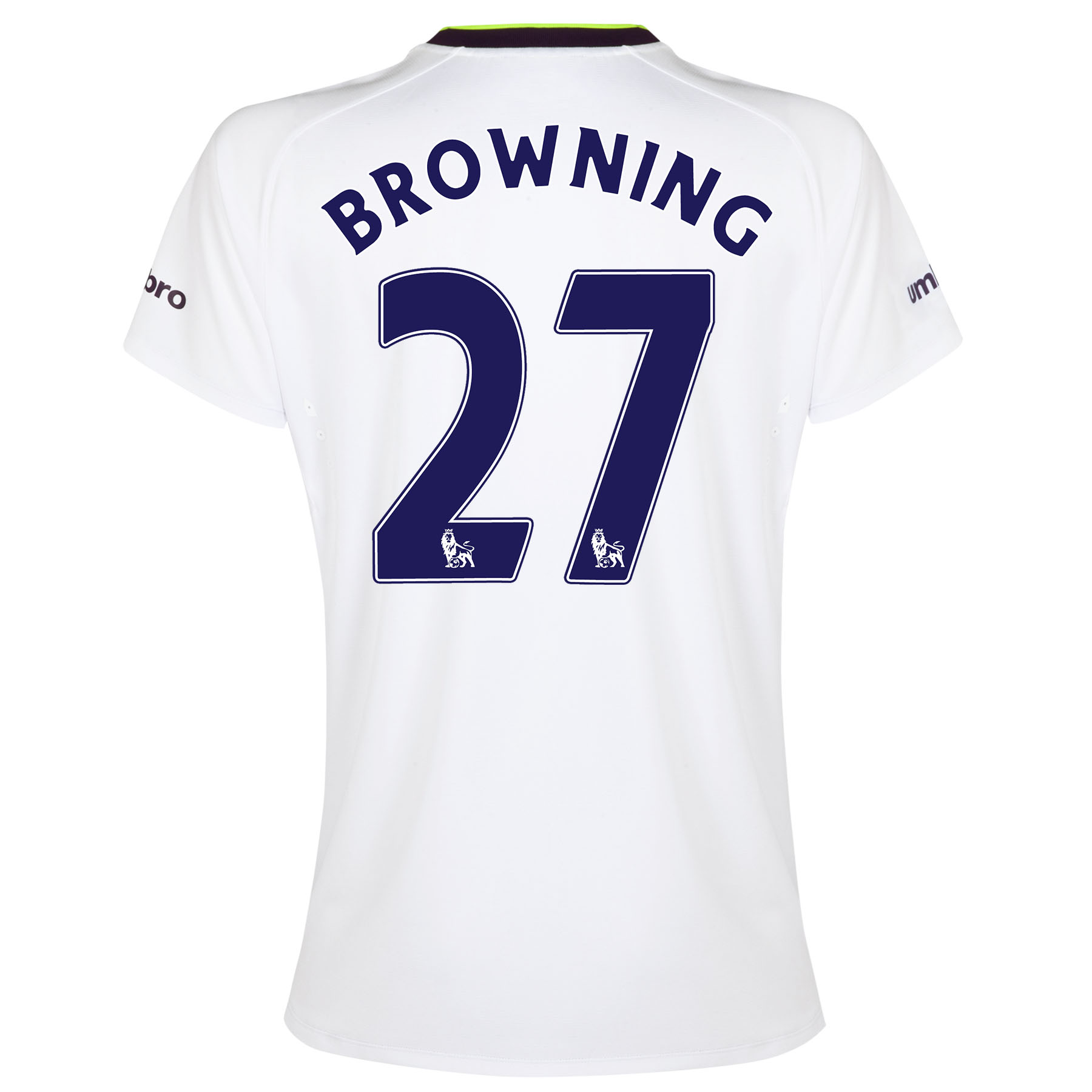 Everton SS 3rd Shirt 2014/15- Womens with Browning 36 printing