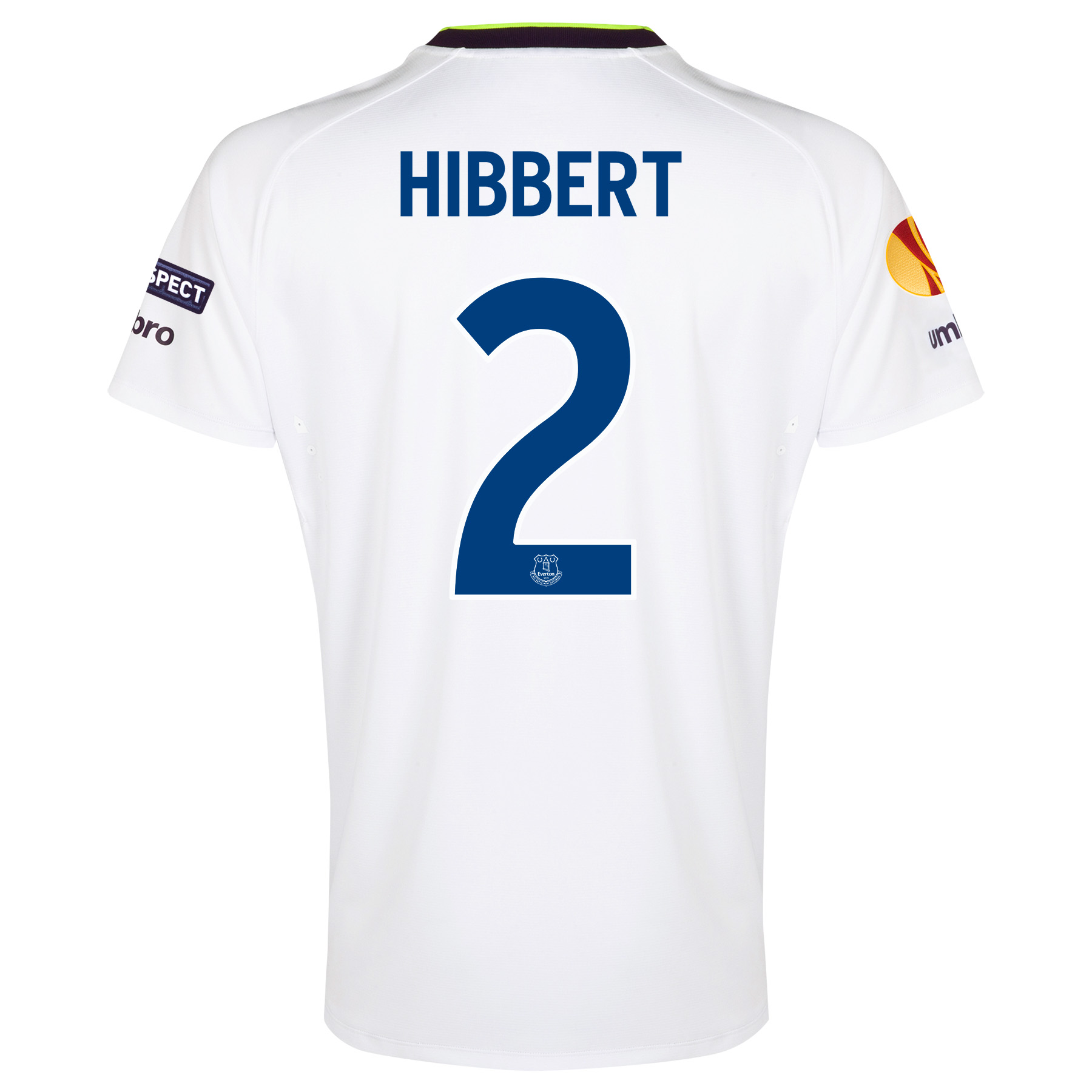 Everton UEFA Europa League 3rd Shirt 2014/15 with Hibbert 2 printing
