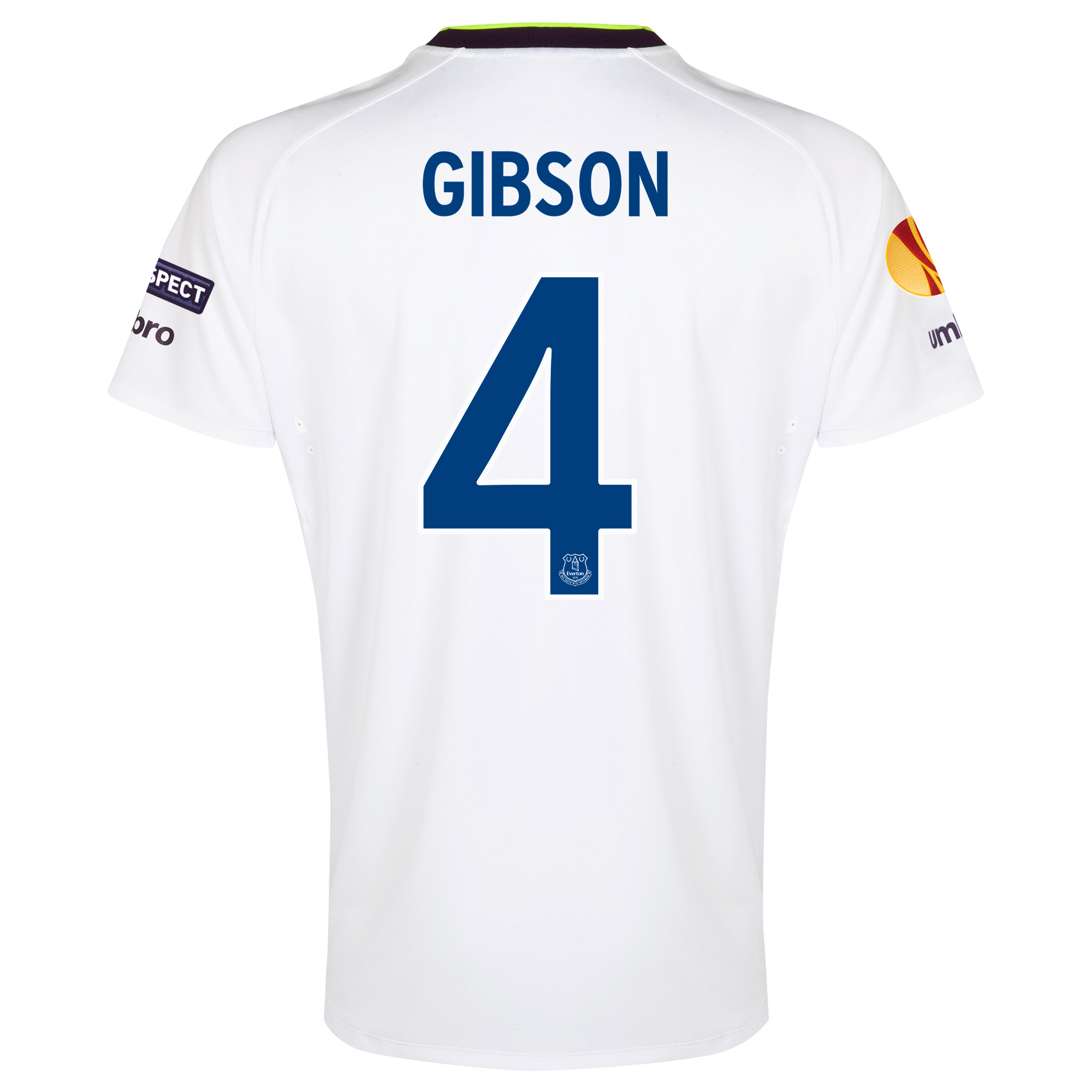 Everton UEFA Europa League 3rd Shirt 2014/15 with Gibson 4 printing
