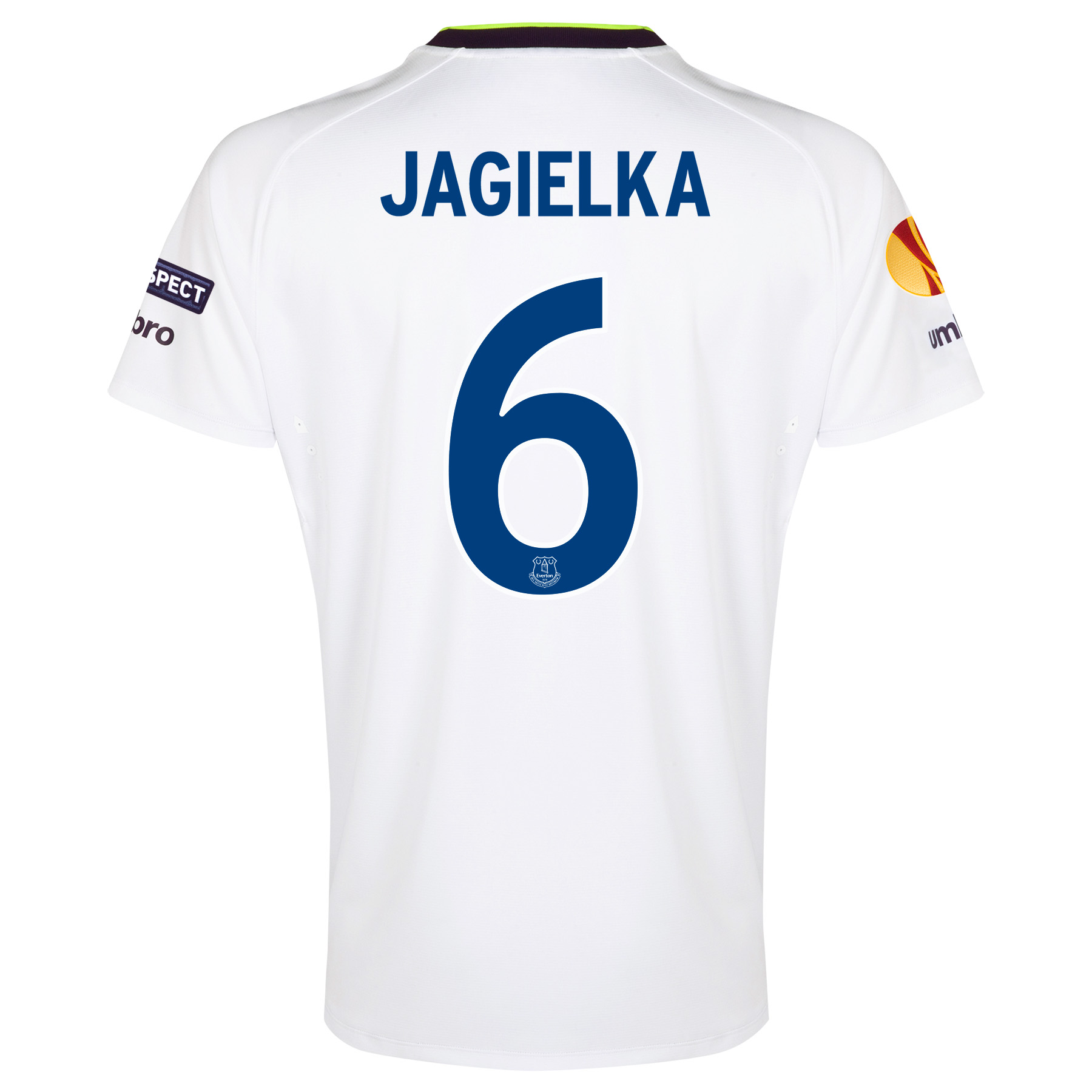 Everton UEFA Europa League 3rd Shirt 2014/15 with Jagielka 6 printing