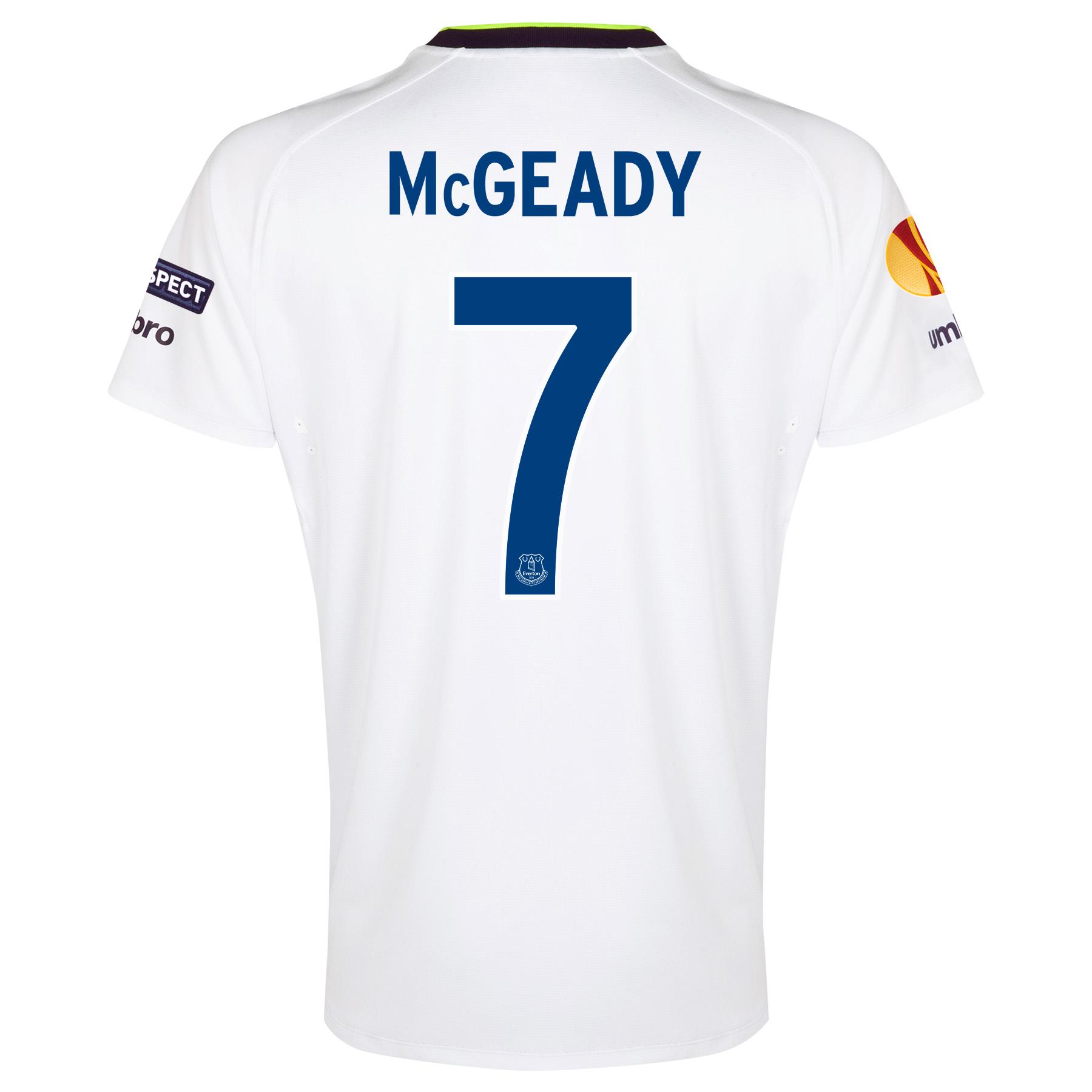 Everton UEFA Europa League 3rd Shirt 2014/15 with McGeady 7 printing