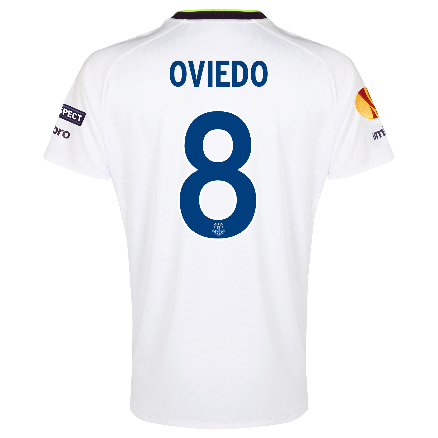 Everton UEFA Europa League 3rd Shirt 2014/15 with Oviedo 8 printing