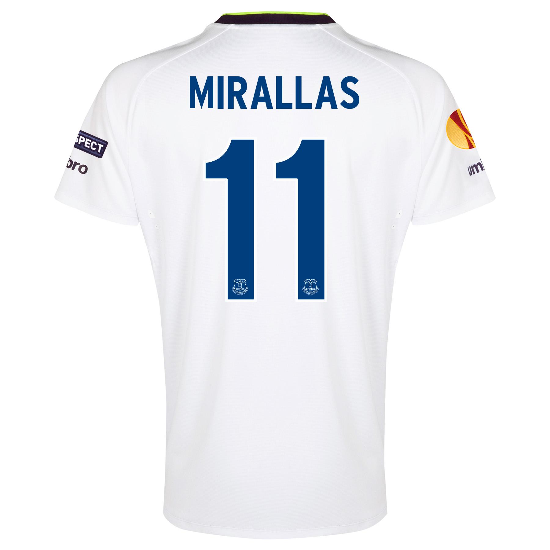 Everton UEFA Europa League 3rd Shirt 2014/15 with Mirallas 11 printing